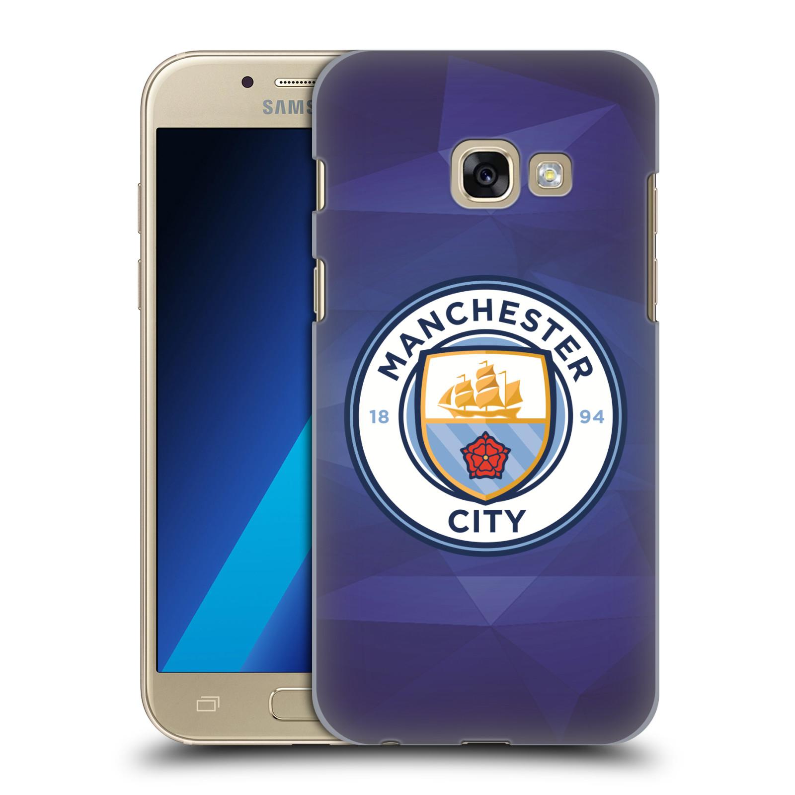 Plastové pouzdro na mobil Samsung Galaxy A3 (2017) HEAD CASE Manchester City FC - Modré nové logo