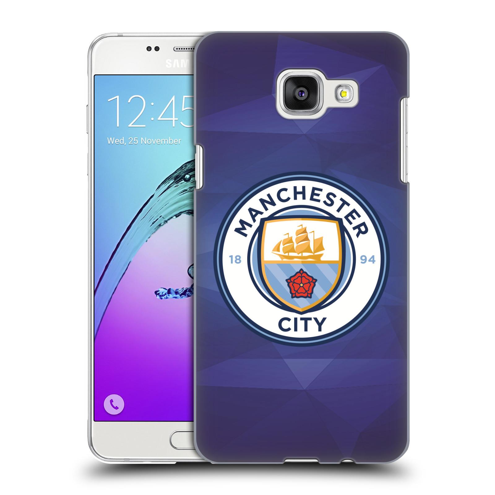 Plastové pouzdro na mobil Samsung Galaxy A5 (2016) HEAD CASE Manchester City FC - Modré nové logo
