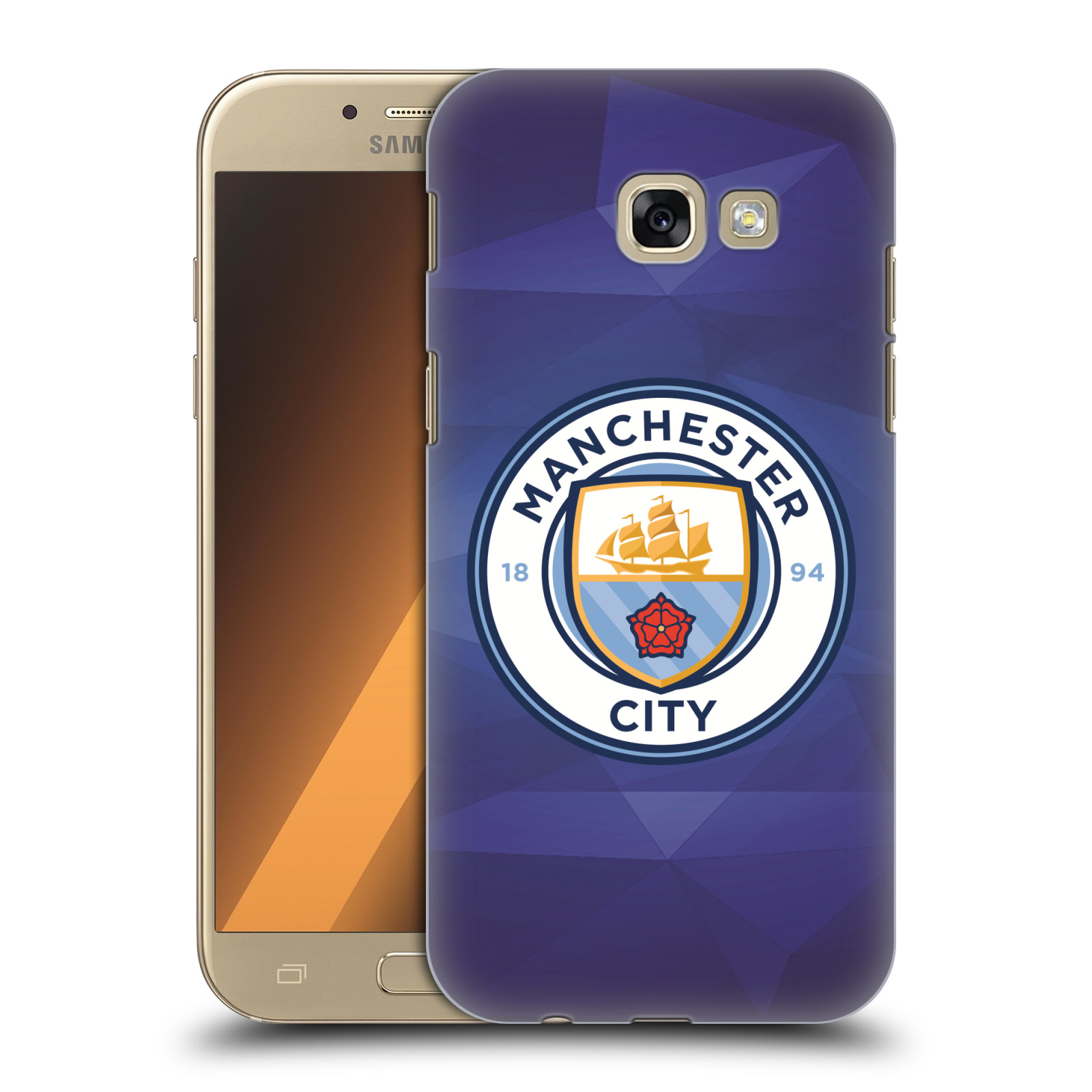 Plastové pouzdro na mobil Samsung Galaxy A5 (2017) HEAD CASE Manchester City FC - Modré nové logo