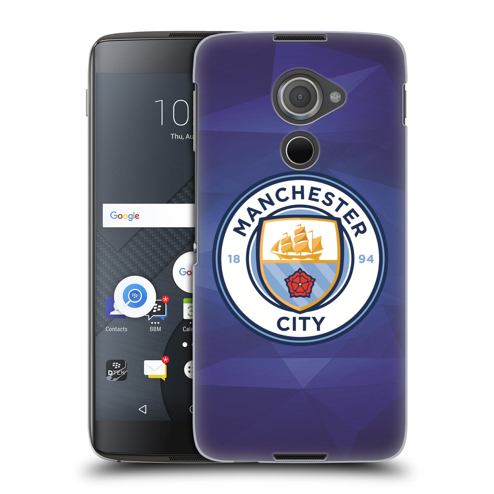 Plastové pouzdro na mobil Blackberry DTEK60 (Argon) - Head Case Manchester City FC - Modré nové logo