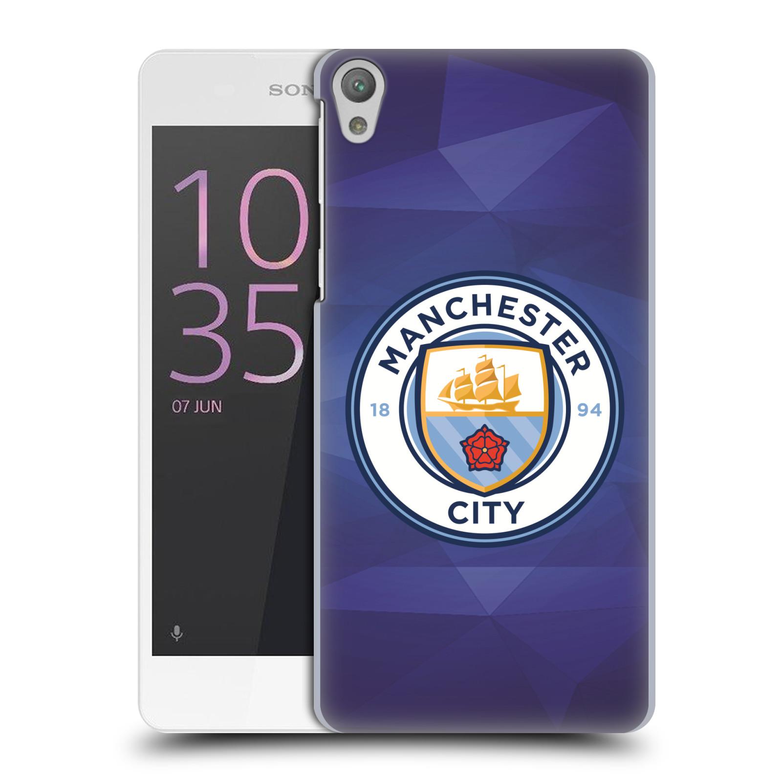Plastové pouzdro na mobil Sony Xperia E5 HEAD CASE Manchester City FC - Modré nové logo