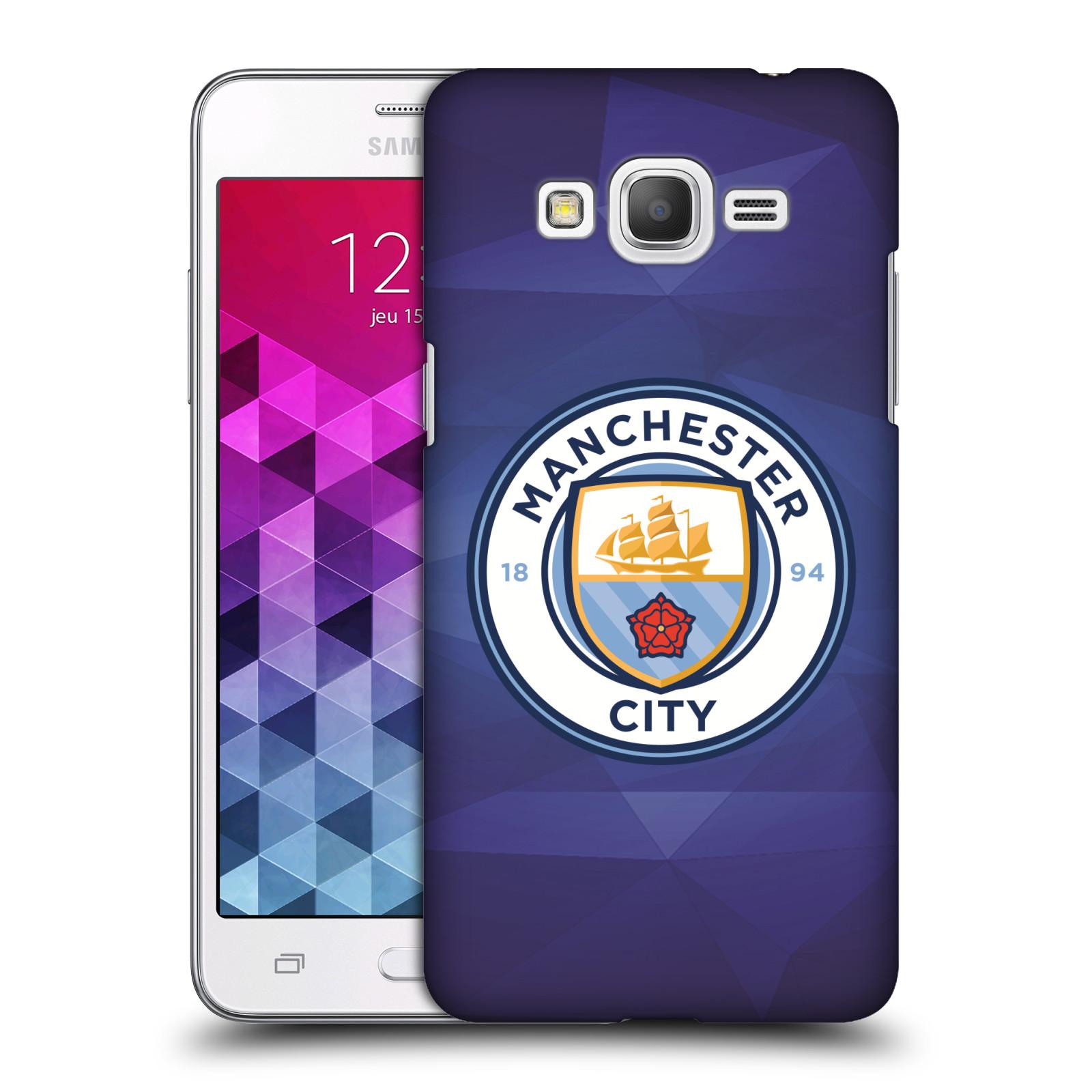 Plastové pouzdro na mobil Samsung Galaxy Grand Prime VE HEAD CASE Manchester City FC - Modré nové logo