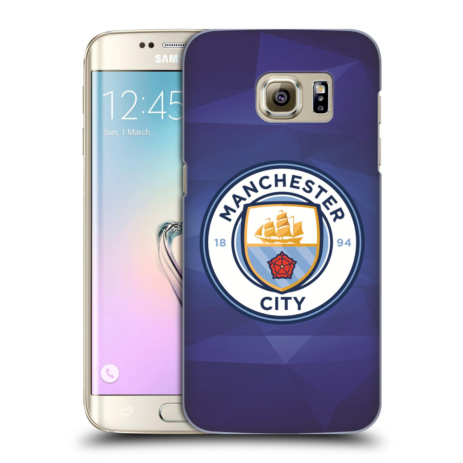 Plastové pouzdro na mobil Samsung Galaxy S7 Edge HEAD CASE Manchester City FC - Modré nové logo
