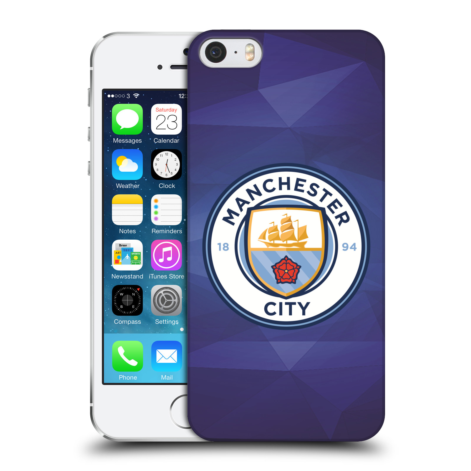 Plastové pouzdro na mobil Apple iPhone SE, 5 a 5S HEAD CASE Manchester City FC - Modré nové logo