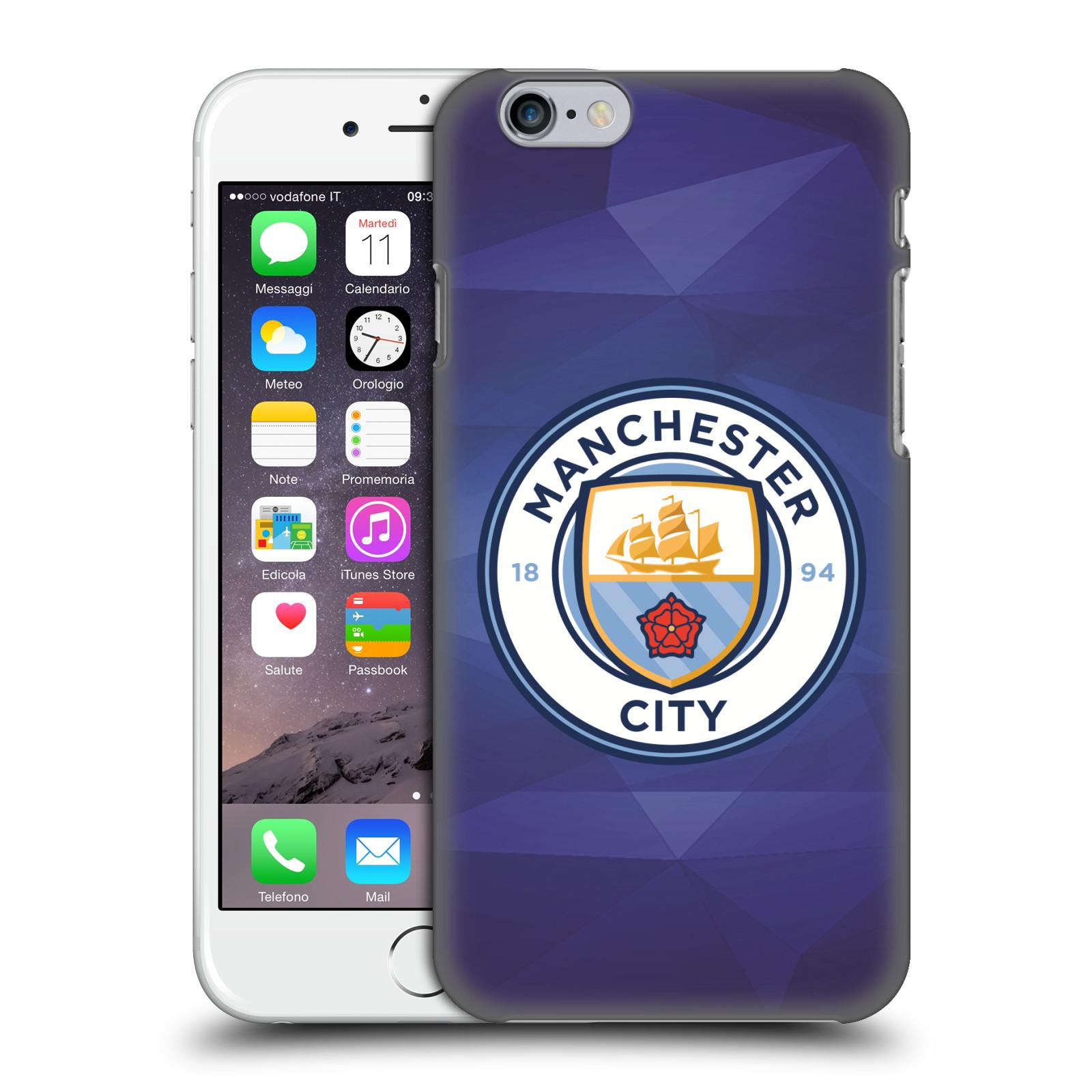 Plastové pouzdro na mobil Apple iPhone 6 HEAD CASE Manchester City FC - Modré nové logo