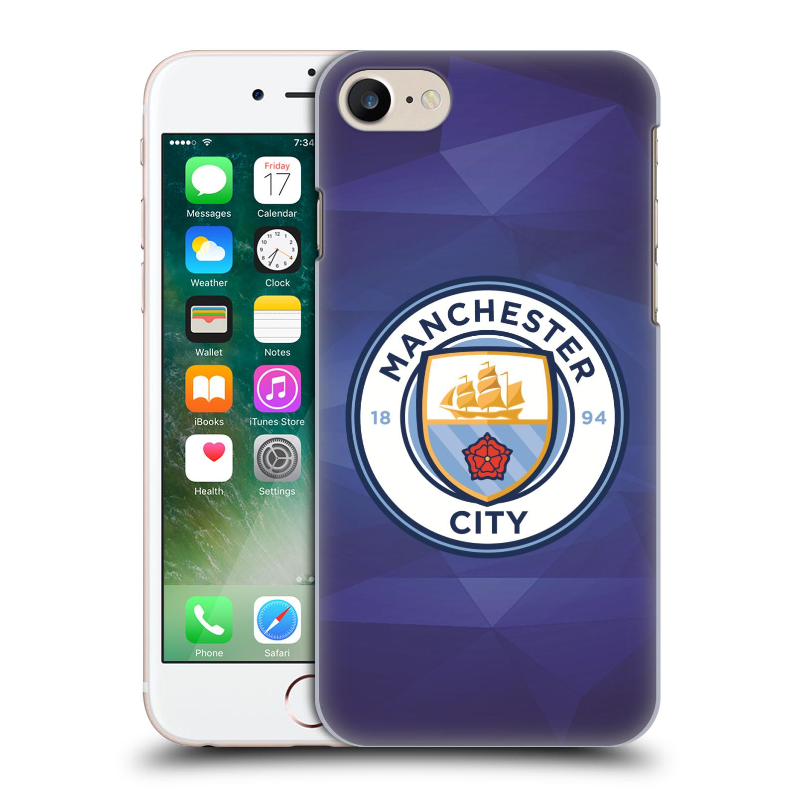 Plastové pouzdro na mobil Apple iPhone 7 HEAD CASE Manchester City FC - Modré nové logo