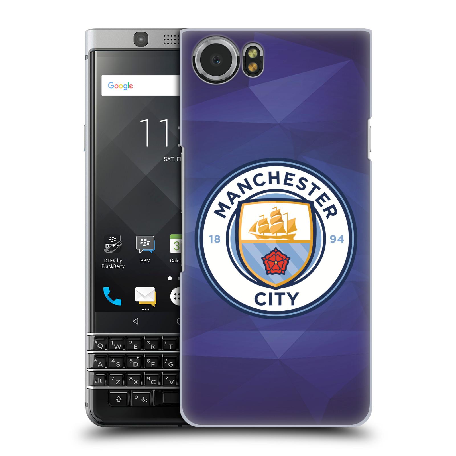 Plastové pouzdro na mobil BlackBerry KEYone - Head Case - Manchester City FC - Modré nové logo (Plastový kryt či obal na mobilní telefon BlackBerry KEYone s motivem Manchester City FC - Modré nové logo)