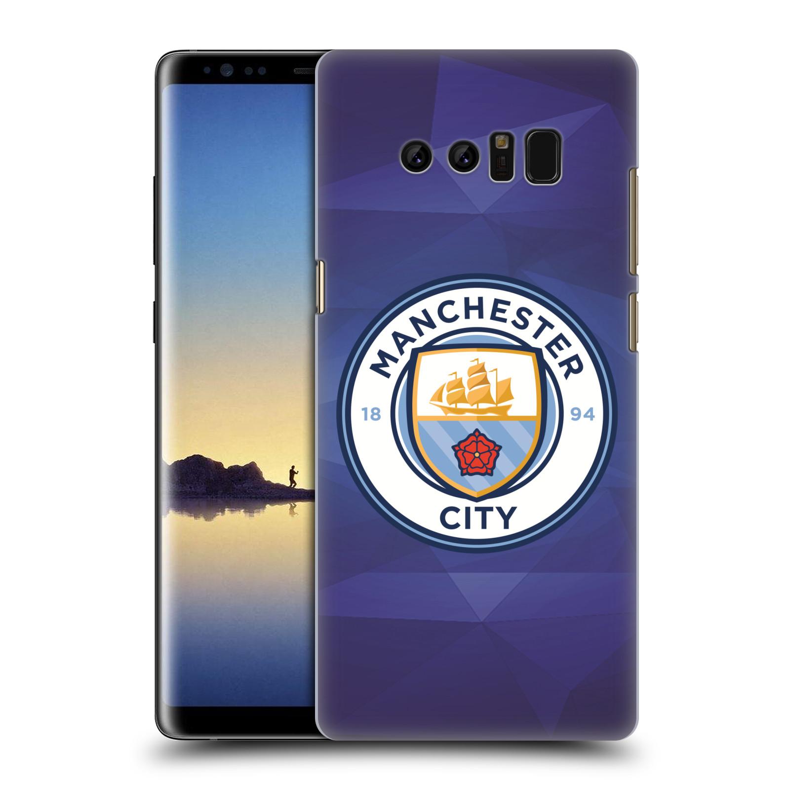 Plastové pouzdro na mobil Samsung Galaxy Note 8 - Head Case - Manchester City FC - Modré nové logo (Plastový kryt či obal na mobilní telefon Samsung Galaxy Note 8 SM-N950 s motivem Manchester City FC - Modré nové logo)