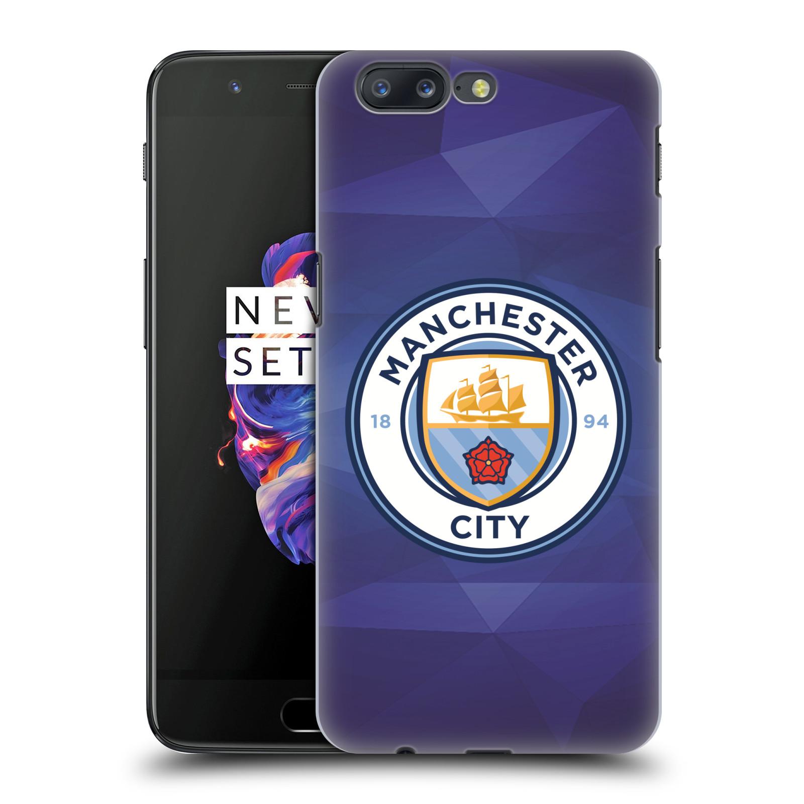 Plastové pouzdro na mobil OnePlus 5 - Head Case - Manchester City FC - Modré nové logo (Plastový kryt či obal na mobilní telefon OnePlus 5 s motivem Manchester City FC - Modré nové logo)
