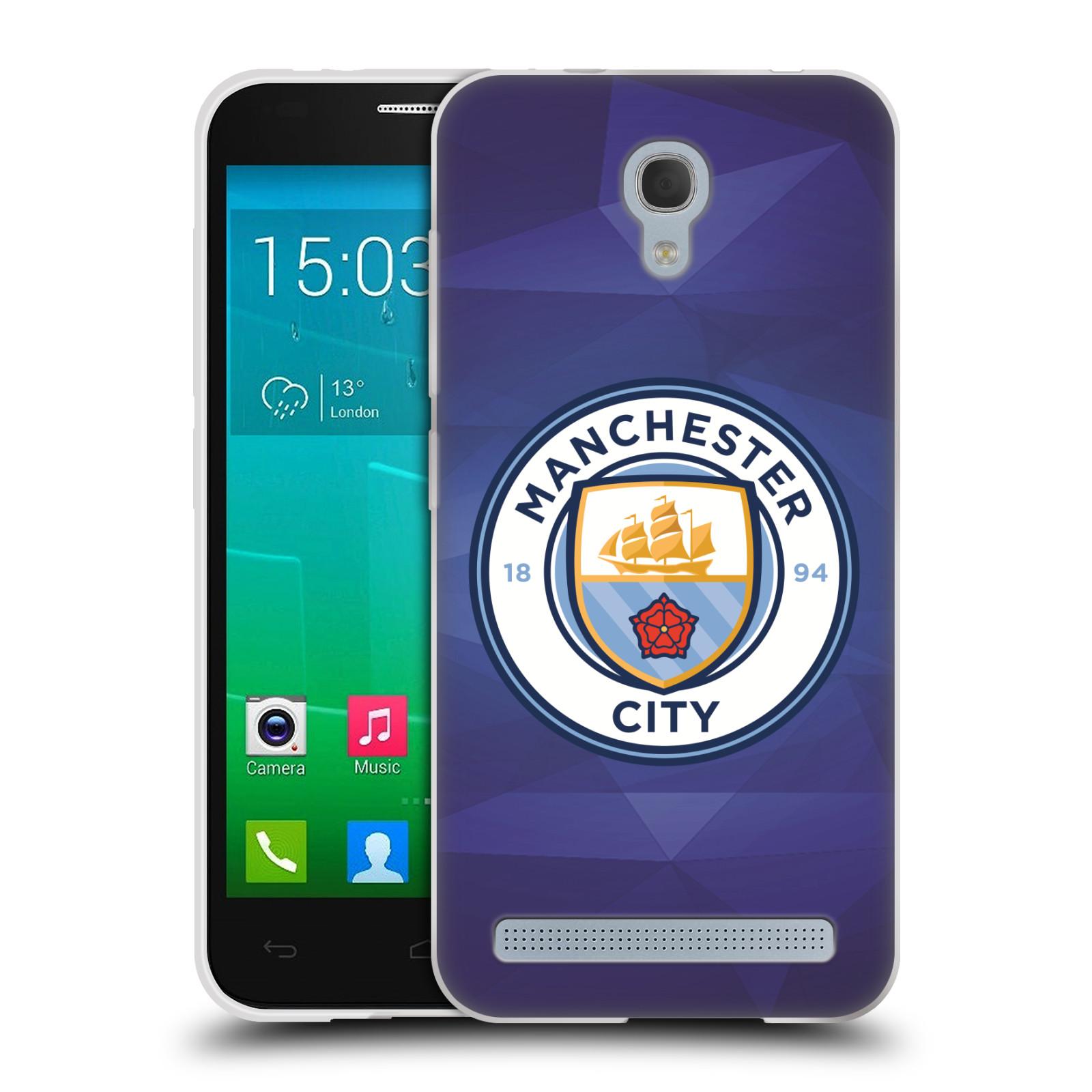 Silikonové pouzdro na mobil Alcatel One Touch Idol 2 Mini S 6036Y HEAD CASE Manchester City FC - Modré nové logo (Silikonový kryt či obal na mobilní telefon licencovaným motivem Manchester City FC pro Alcatel Idol 2 Mini S OT-6036Y)