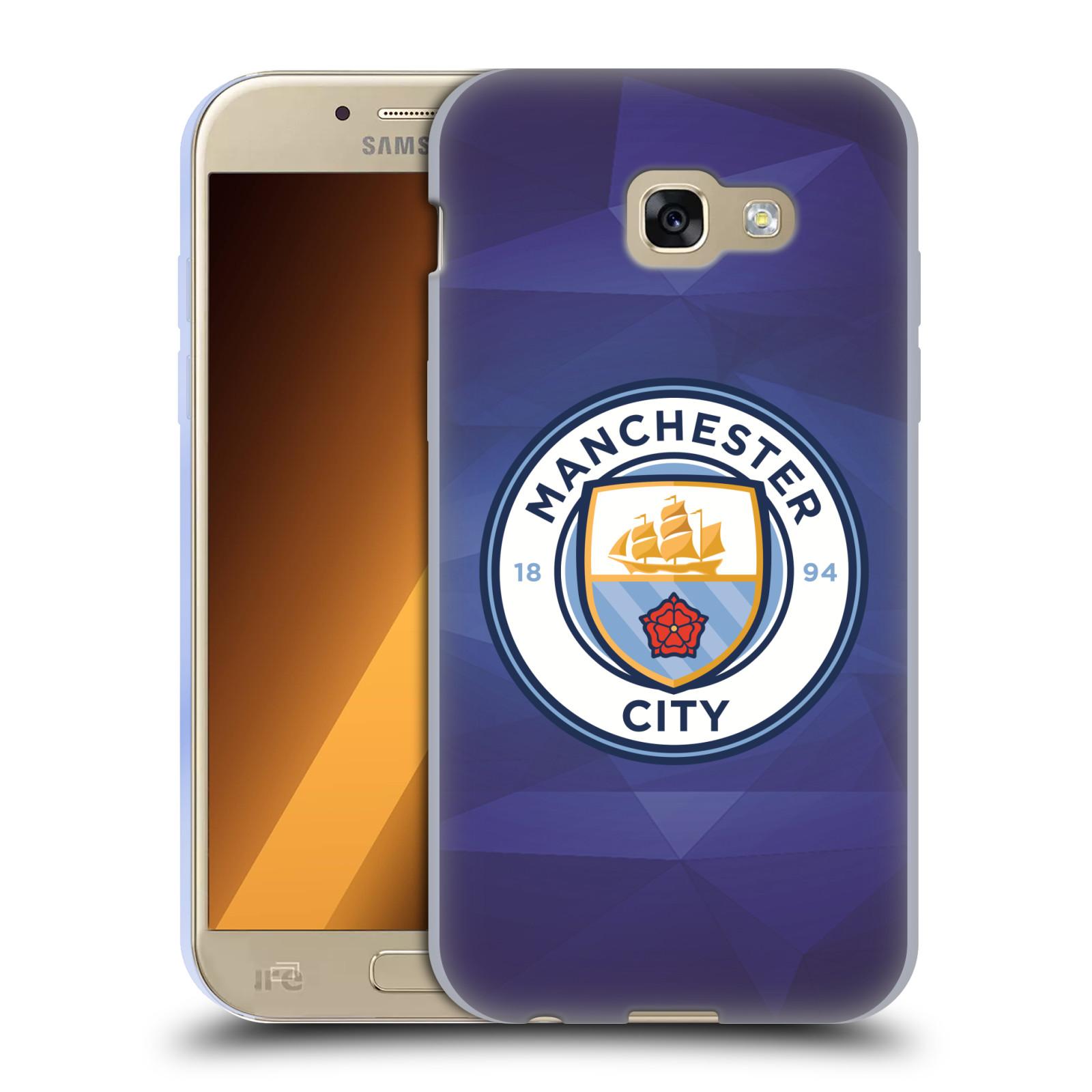 Silikonové pouzdro na mobil Samsung Galaxy A5 (2017) HEAD CASE Manchester City FC - Modré nové logo