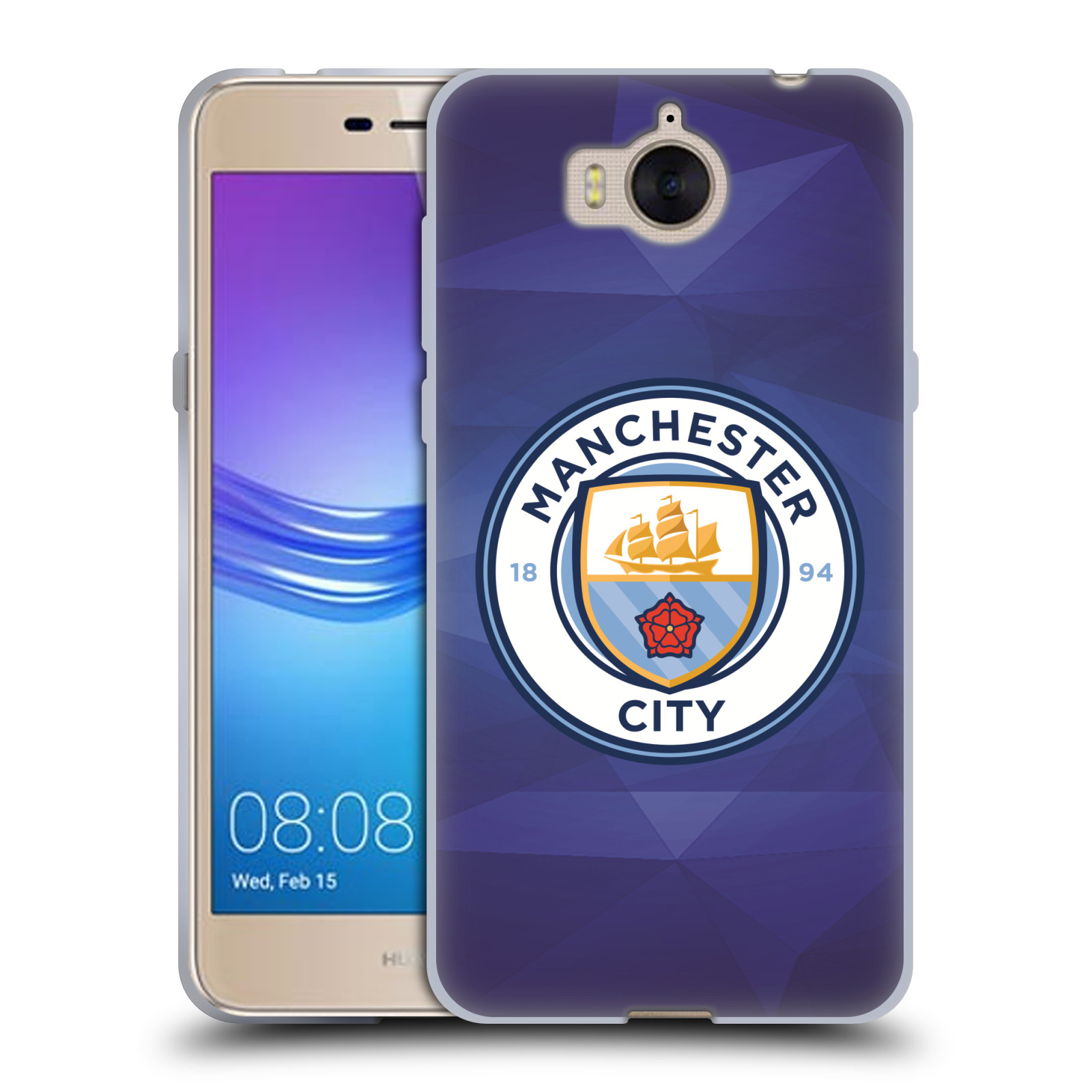 Silikonové pouzdro na mobil Huawei Y6 2017 - Head Case - Manchester City FC - Modré nové logo