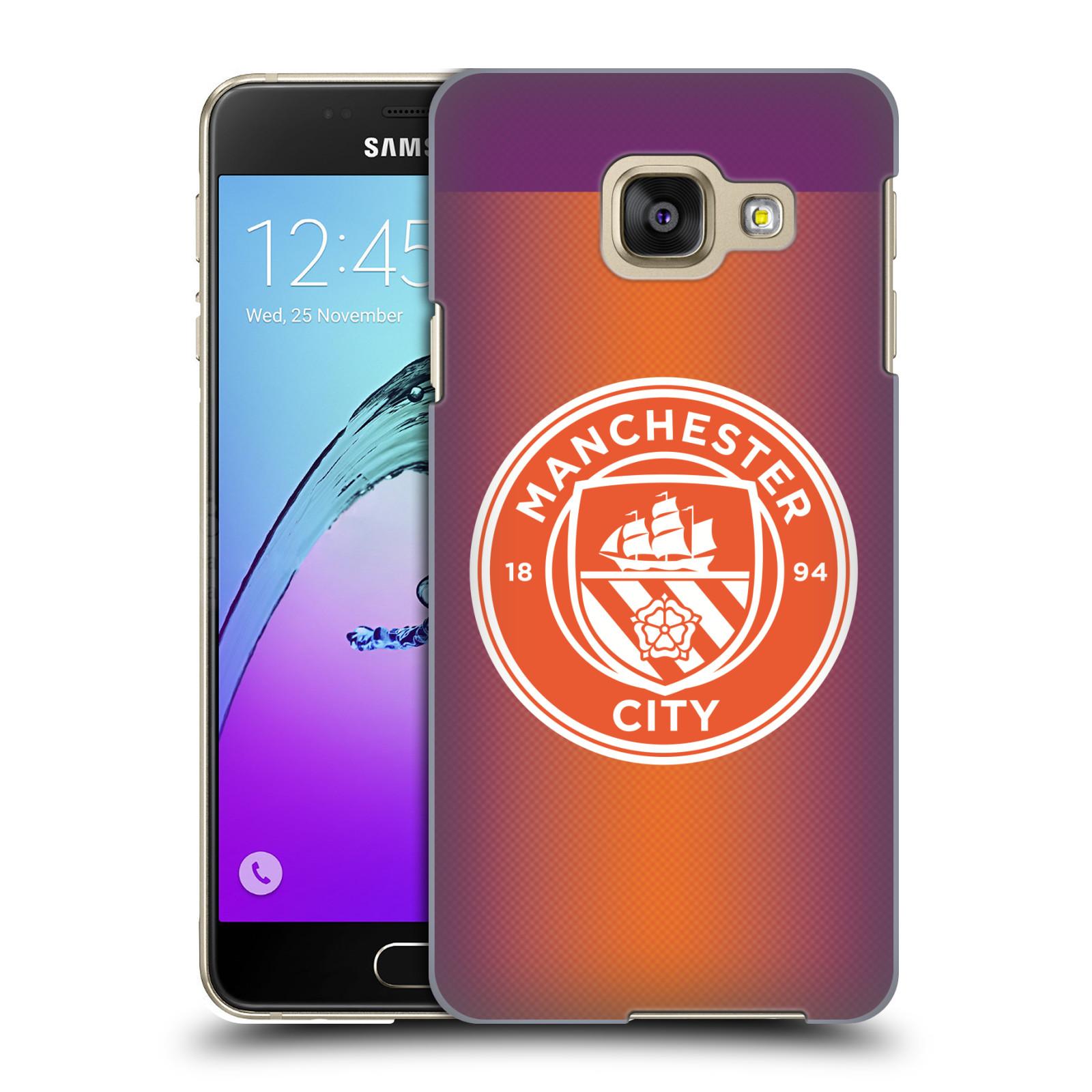 Plastové pouzdro na mobil Samsung Galaxy A3 (2016) HEAD CASE Manchester City FC - Oranžové nové logo