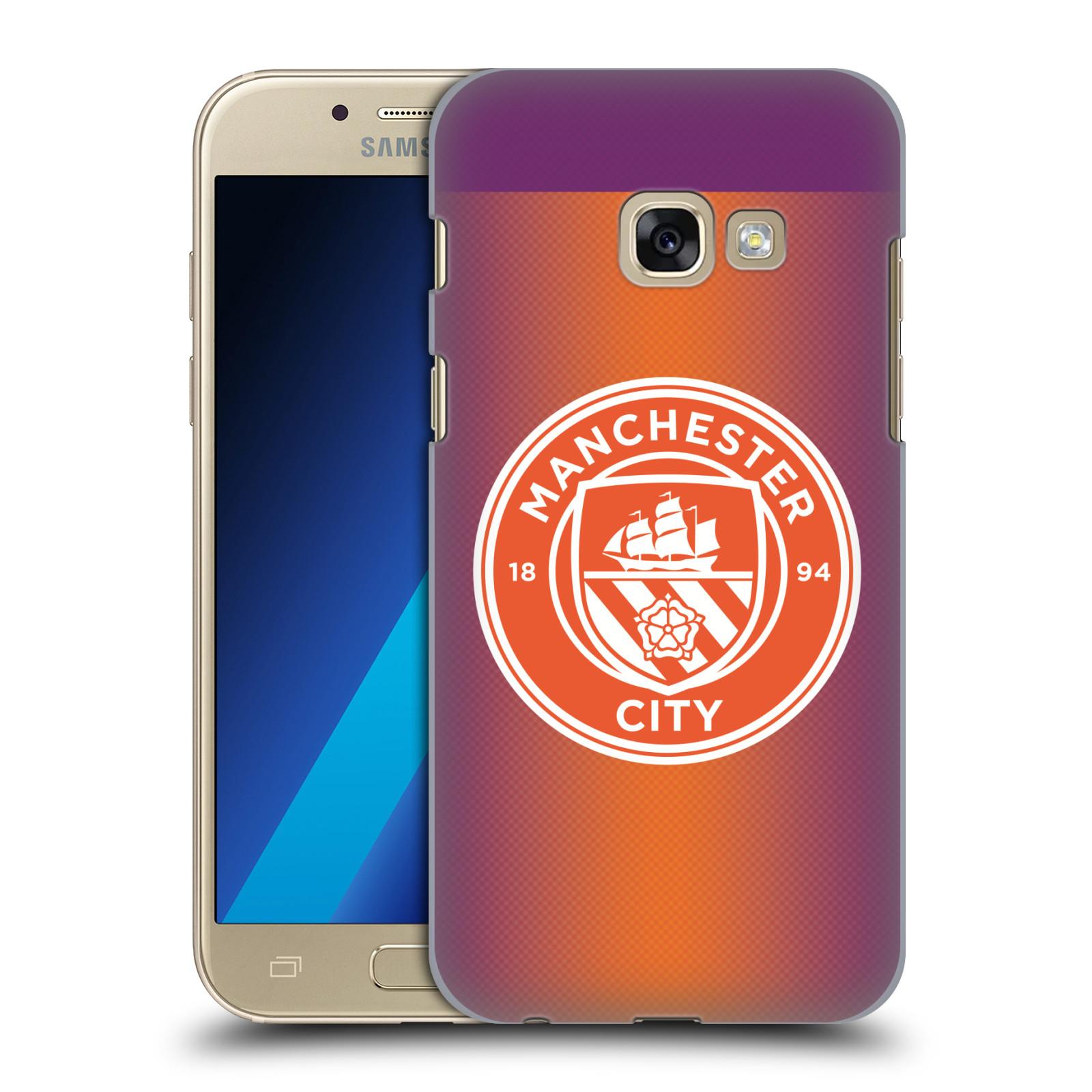 Plastové pouzdro na mobil Samsung Galaxy A3 (2017) HEAD CASE Manchester City FC - Oranžové nové logo