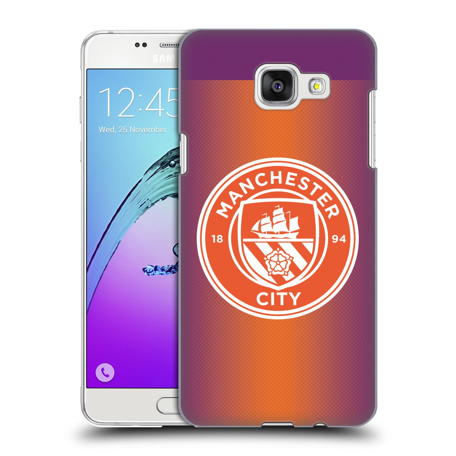 Plastové pouzdro na mobil Samsung Galaxy A5 (2016) HEAD CASE Manchester City FC - Oranžové nové logo