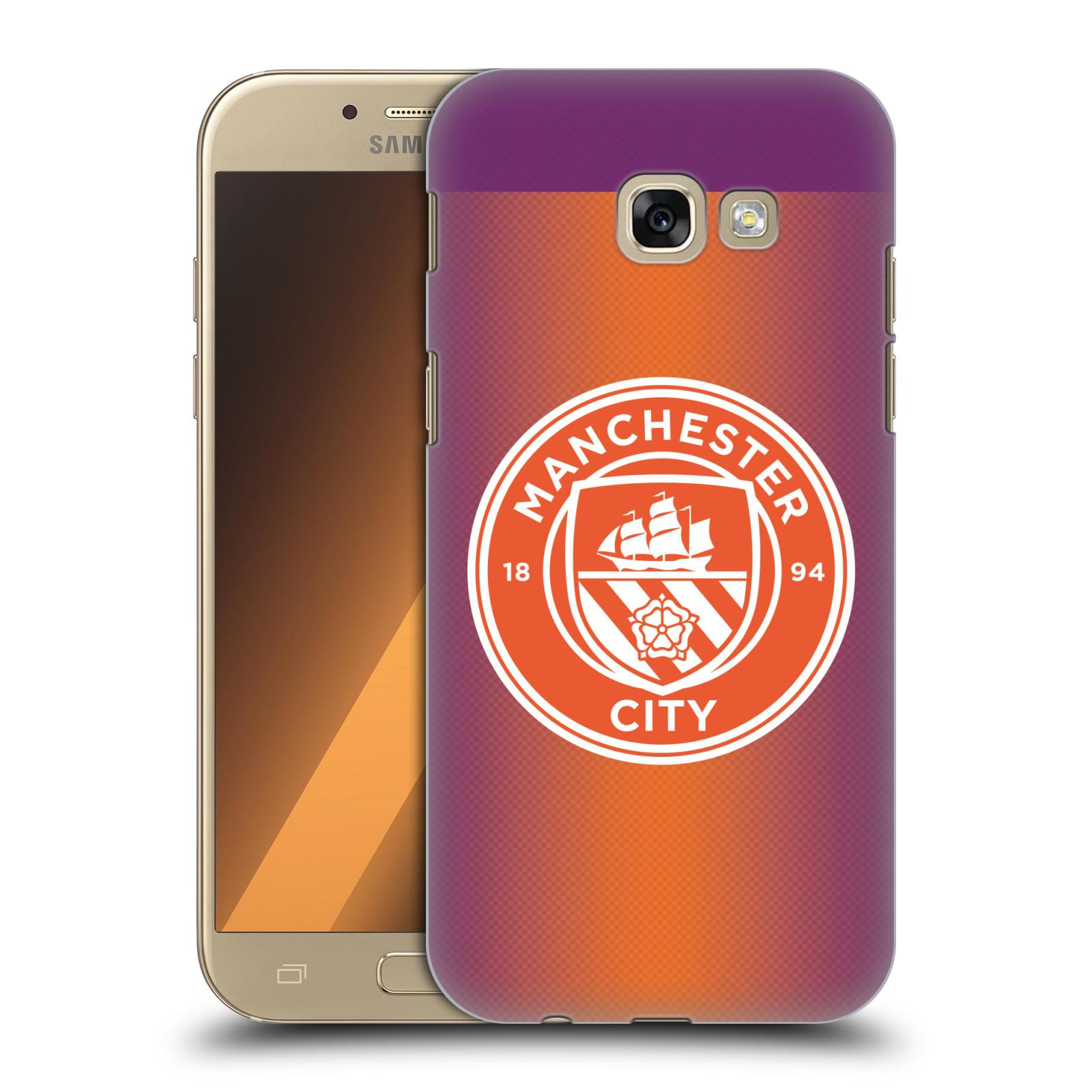 Plastové pouzdro na mobil Samsung Galaxy A5 (2017) HEAD CASE Manchester City FC - Oranžové nové logo