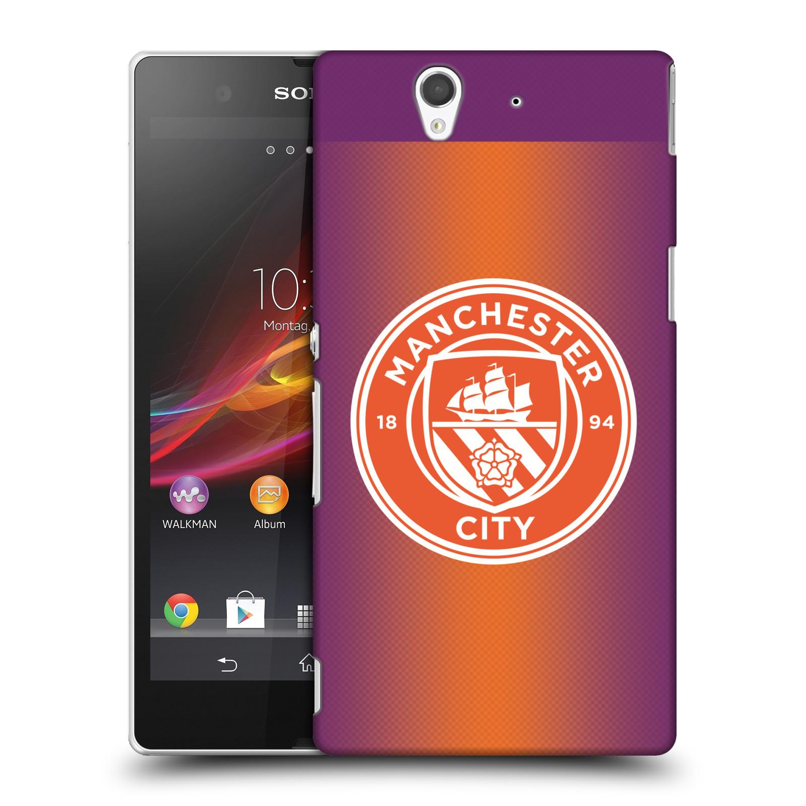 Plastové pouzdro na mobil Sony Xperia Z C6603 HEAD CASE Manchester City FC - Oranžové nové logo