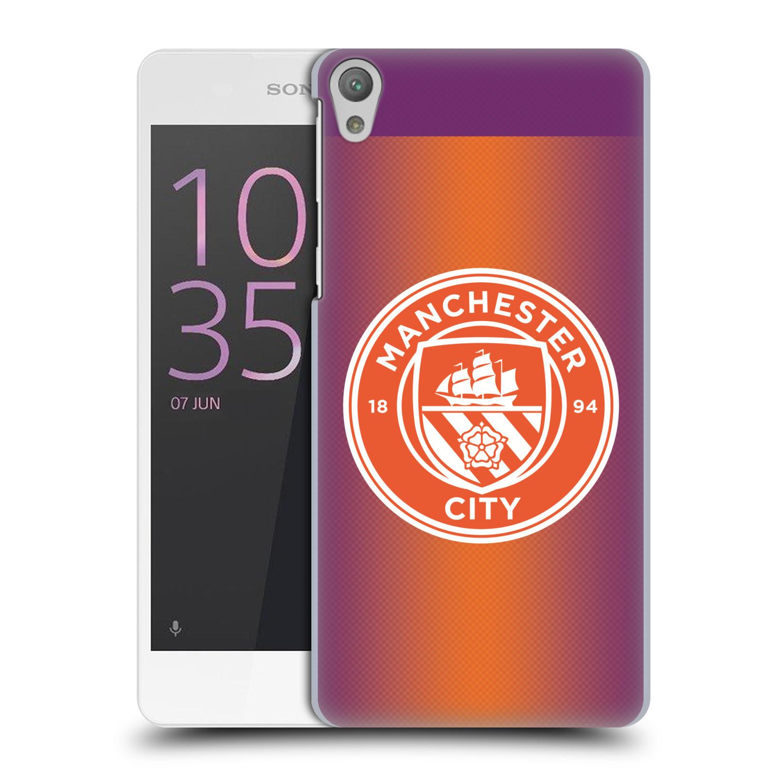 Plastové pouzdro na mobil Sony Xperia E5 HEAD CASE Manchester City FC - Oranžové nové logo