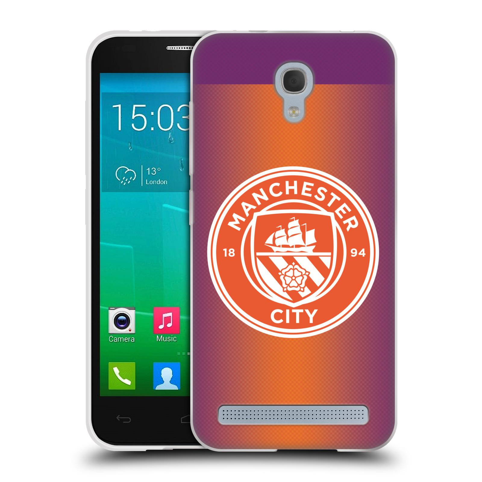 Silikonové pouzdro na mobil Alcatel One Touch Idol 2 Mini S 6036Y HEAD CASE Manchester City FC - Oranžové nové logo (Silikonový kryt či obal na mobilní telefon licencovaným motivem Manchester City FC pro Alcatel Idol 2 Mini S OT-6036Y)