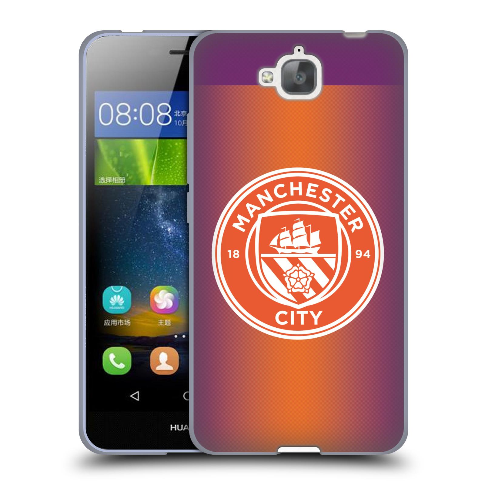 Silikonové pouzdro na mobil Huawei Y6 Pro Dual Sim HEAD CASE Manchester City FC - Oranžové nové logo