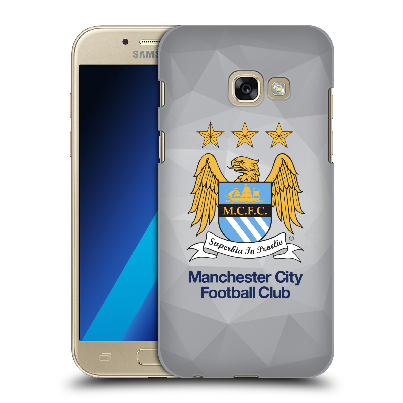 Plastové pouzdro na mobil Samsung Galaxy A3 (2017) HEAD CASE Manchester City FC - Football Club