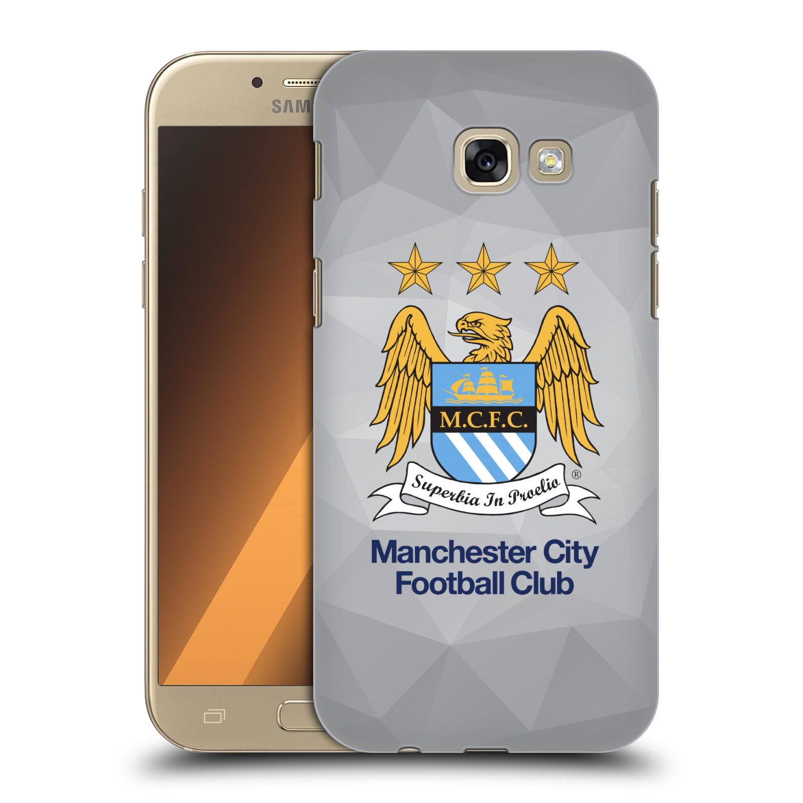 Plastové pouzdro na mobil Samsung Galaxy A5 (2017) HEAD CASE Manchester City FC - Football Club