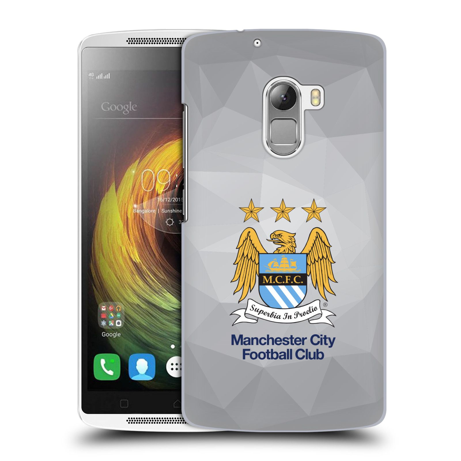 Plastové pouzdro na mobil Lenovo A7010 HEAD CASE Manchester City FC - Football Club
