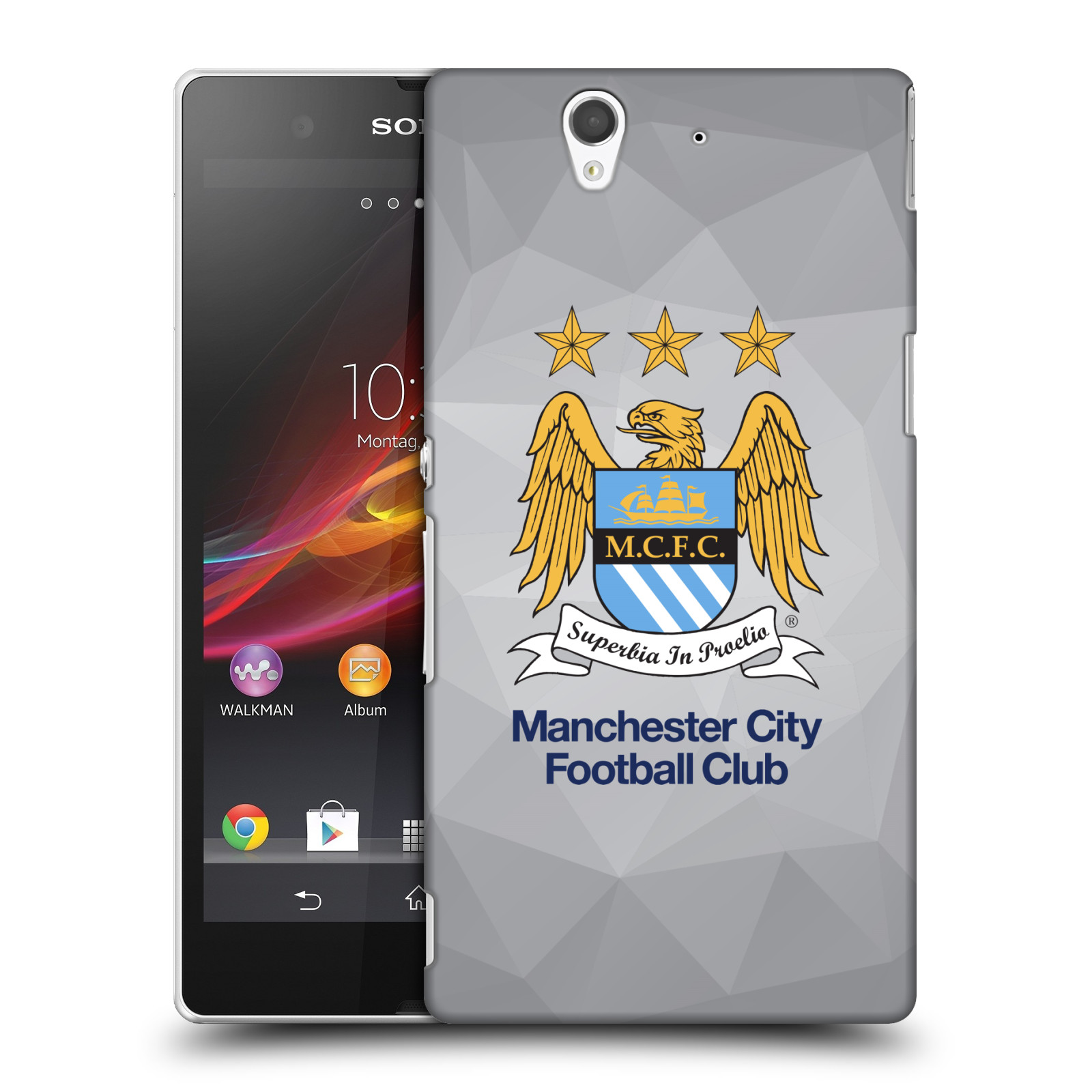 Plastové pouzdro na mobil Sony Xperia Z C6603 HEAD CASE Manchester City FC - Football Club