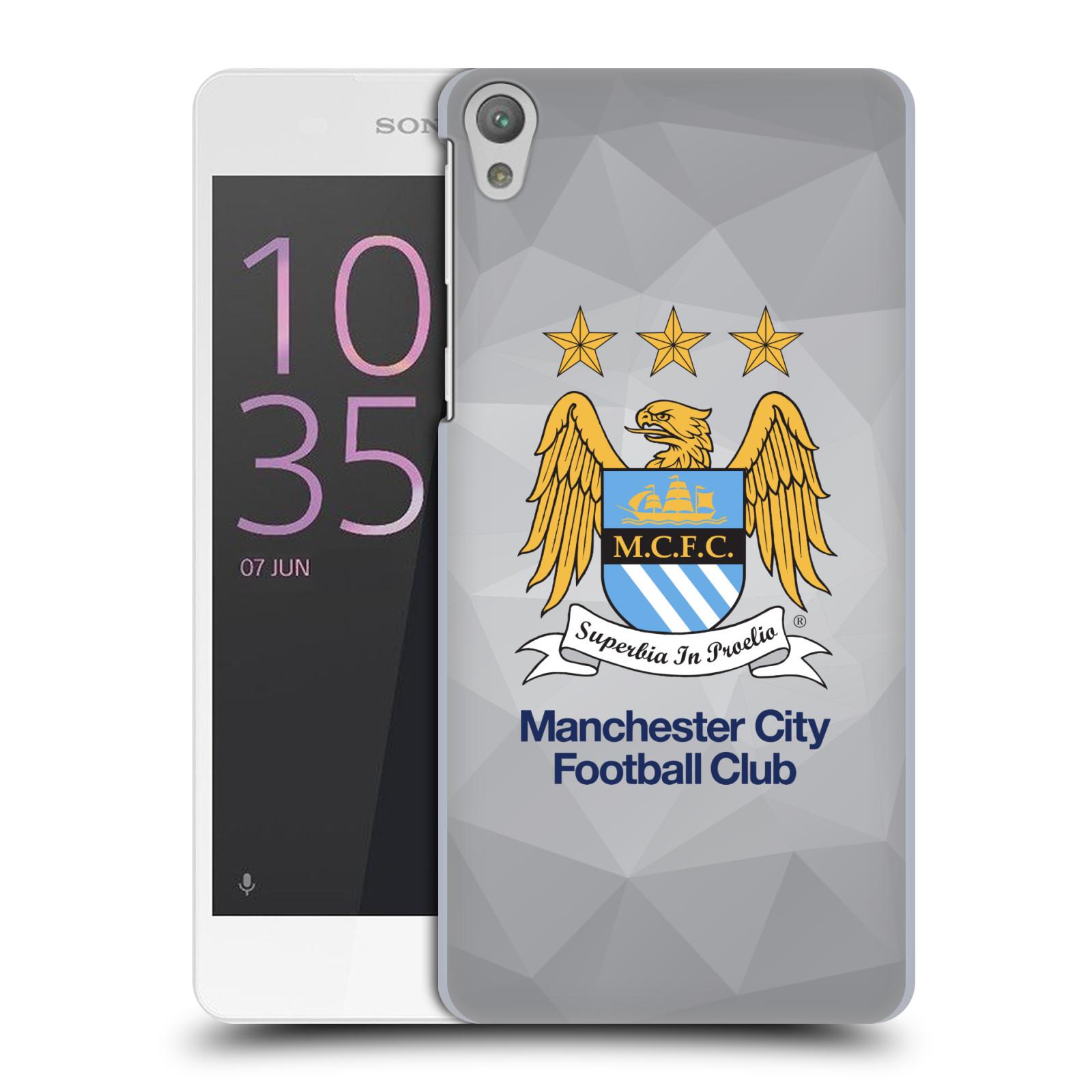 Plastové pouzdro na mobil Sony Xperia E5 HEAD CASE Manchester City FC - Football Club