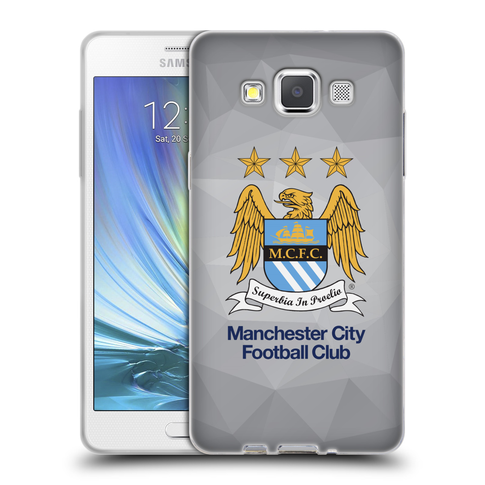 Silikonové pouzdro na mobil Samsung Galaxy A5 HEAD CASE Manchester City FC - Football Club