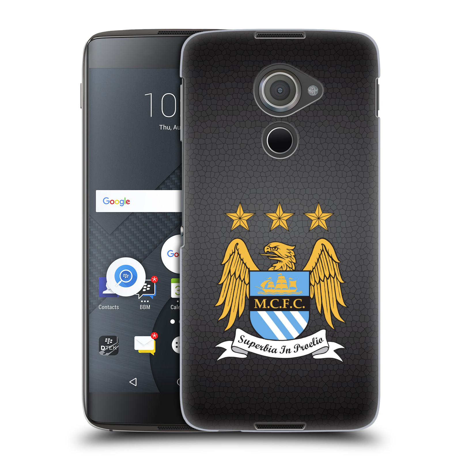 Plastové pouzdro na mobil Blackberry DTEK60 (Argon) - Head Case Manchester City FC - Superbia In Proelio