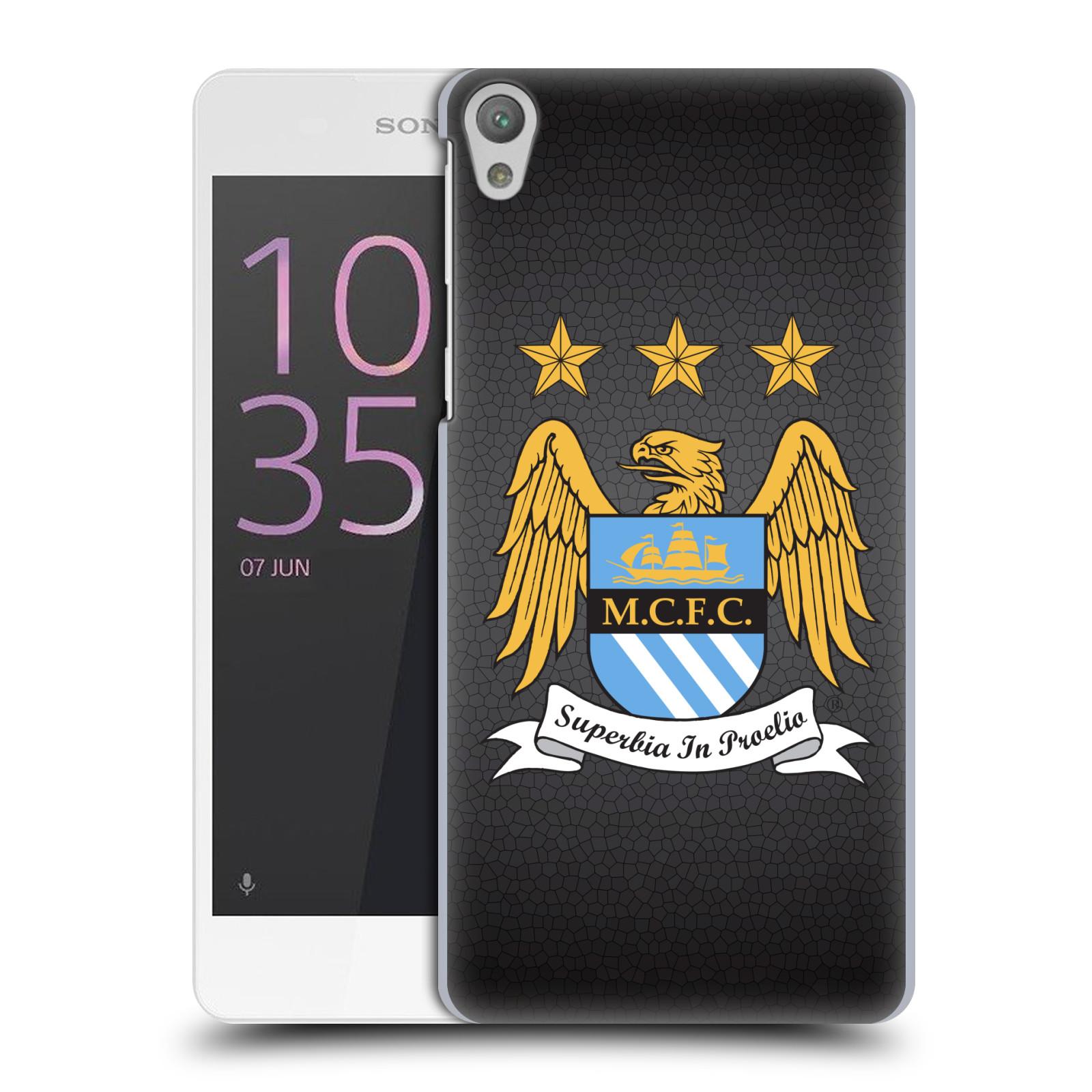 Plastové pouzdro na mobil Sony Xperia E5 HEAD CASE Manchester City FC - Superbia In Proelio