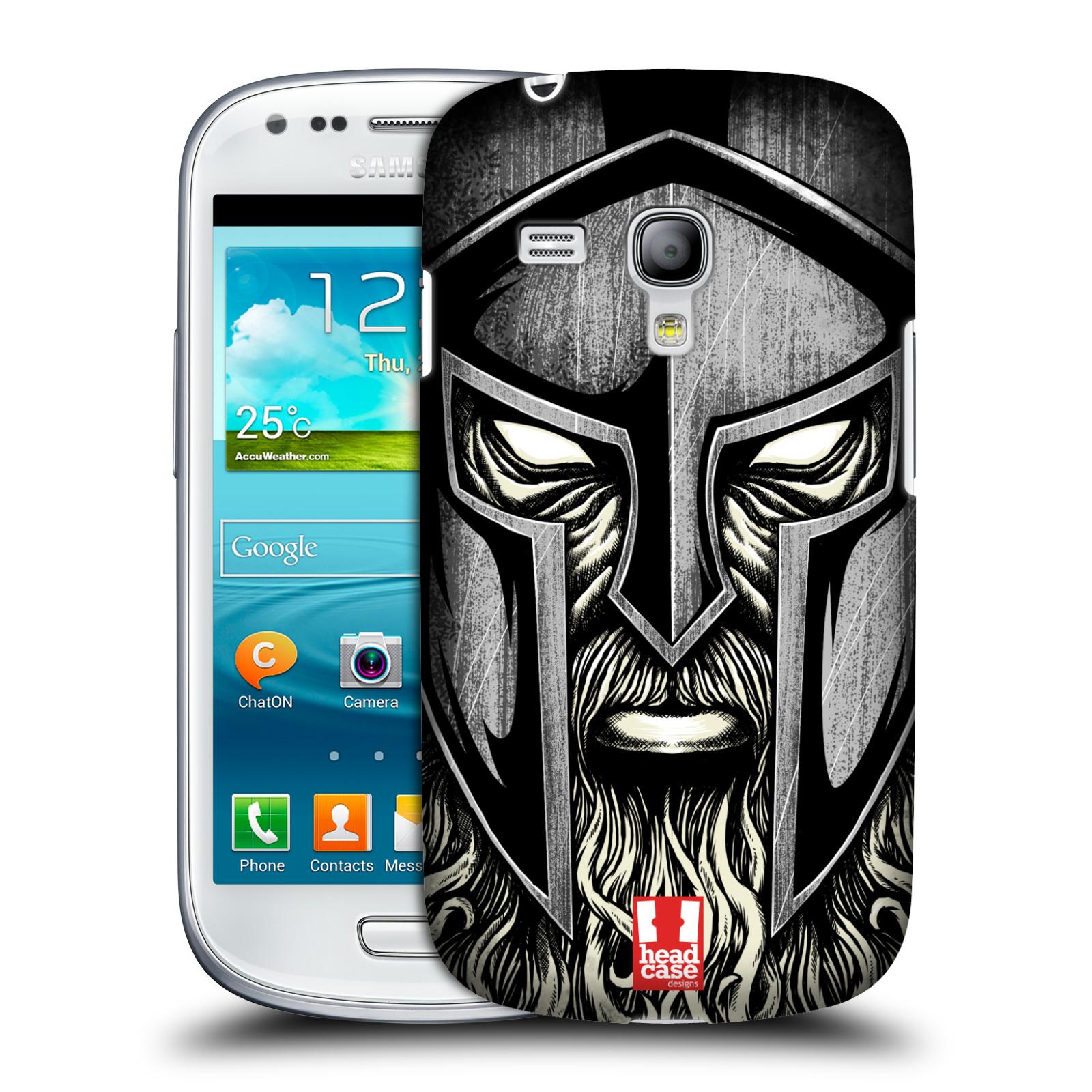 Silikonové pouzdro na mobil Samsung Galaxy S III Mini VE - Head Case - Vousáč válečník (Plastový kryt či obal na mobilní telefon s motivem bojovníka pro Samsung Galaxy S3 Mini VE GT-i8200)