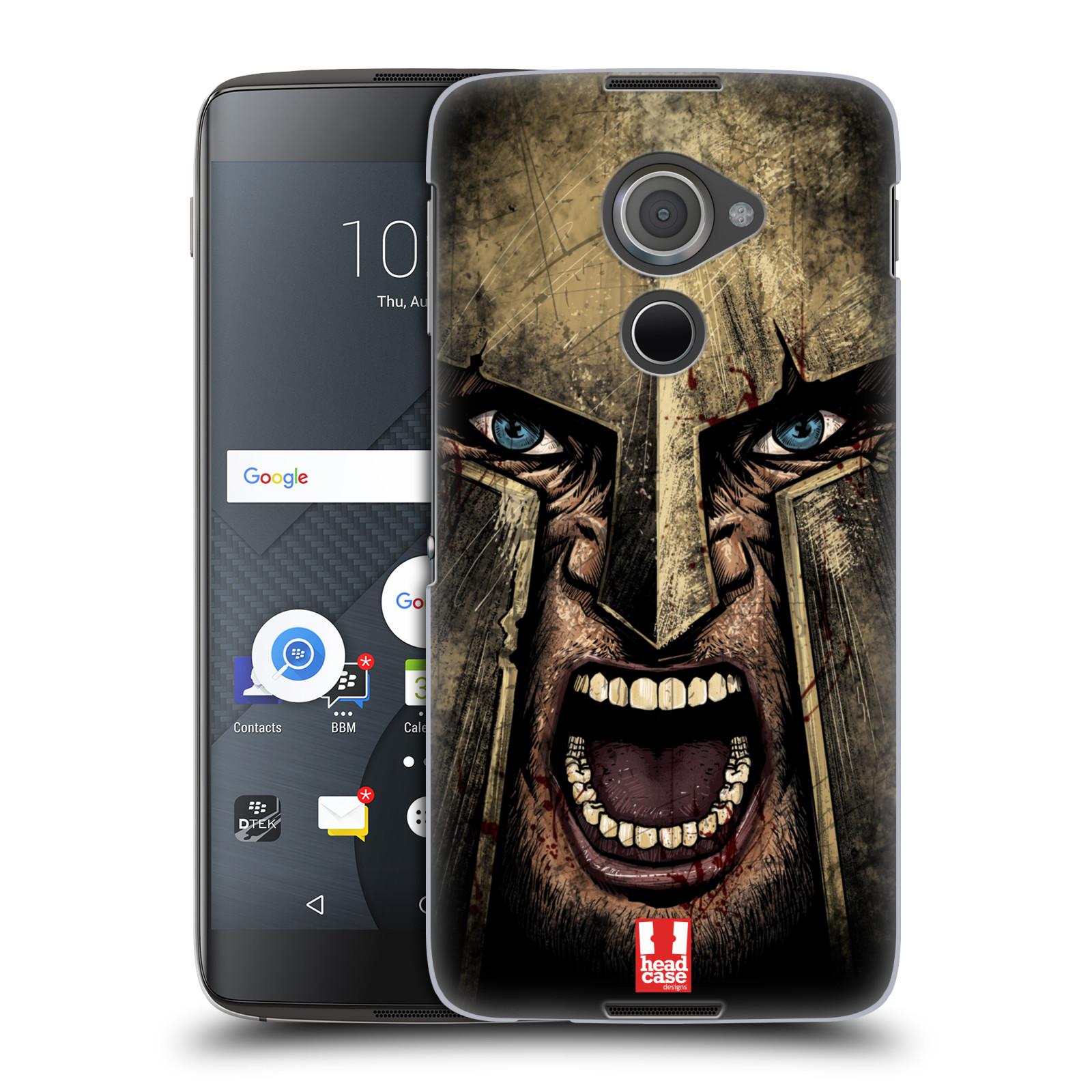 Plastové pouzdro na mobil Blackberry DTEK60 (Argon) - Head Case - Řvoucí válečník (Plastový kryt či obal na mobilní telefon s motivem bojovníka pro Blackberry DTEK60 (Argon))