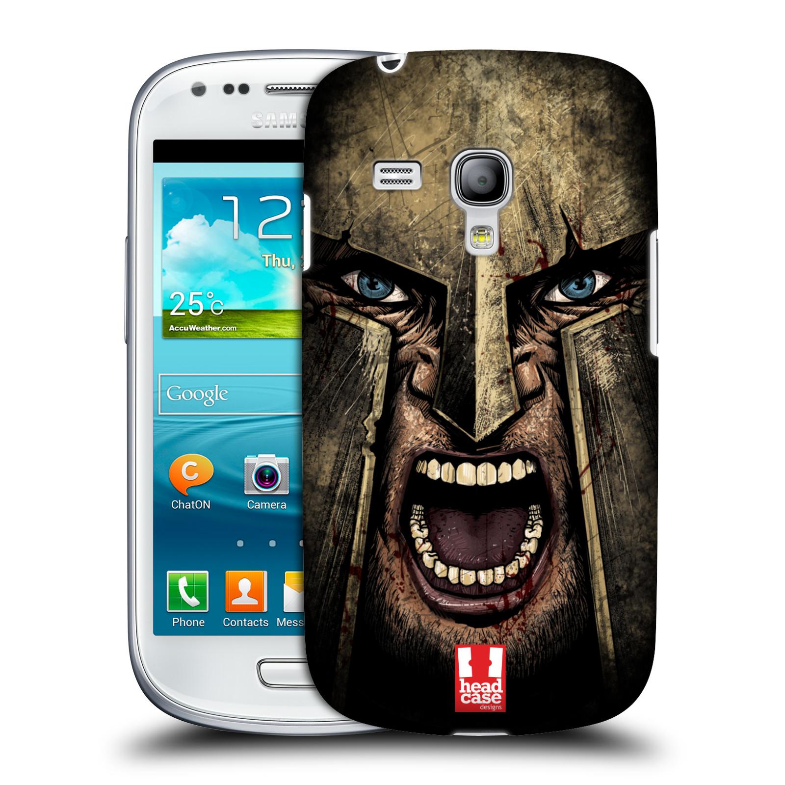 Silikonové pouzdro na mobil Samsung Galaxy S III Mini VE - Head Case - Řvoucí válečník (Plastový kryt či obal na mobilní telefon s motivem bojovníka pro Samsung Galaxy S3 Mini VE GT-i8200)