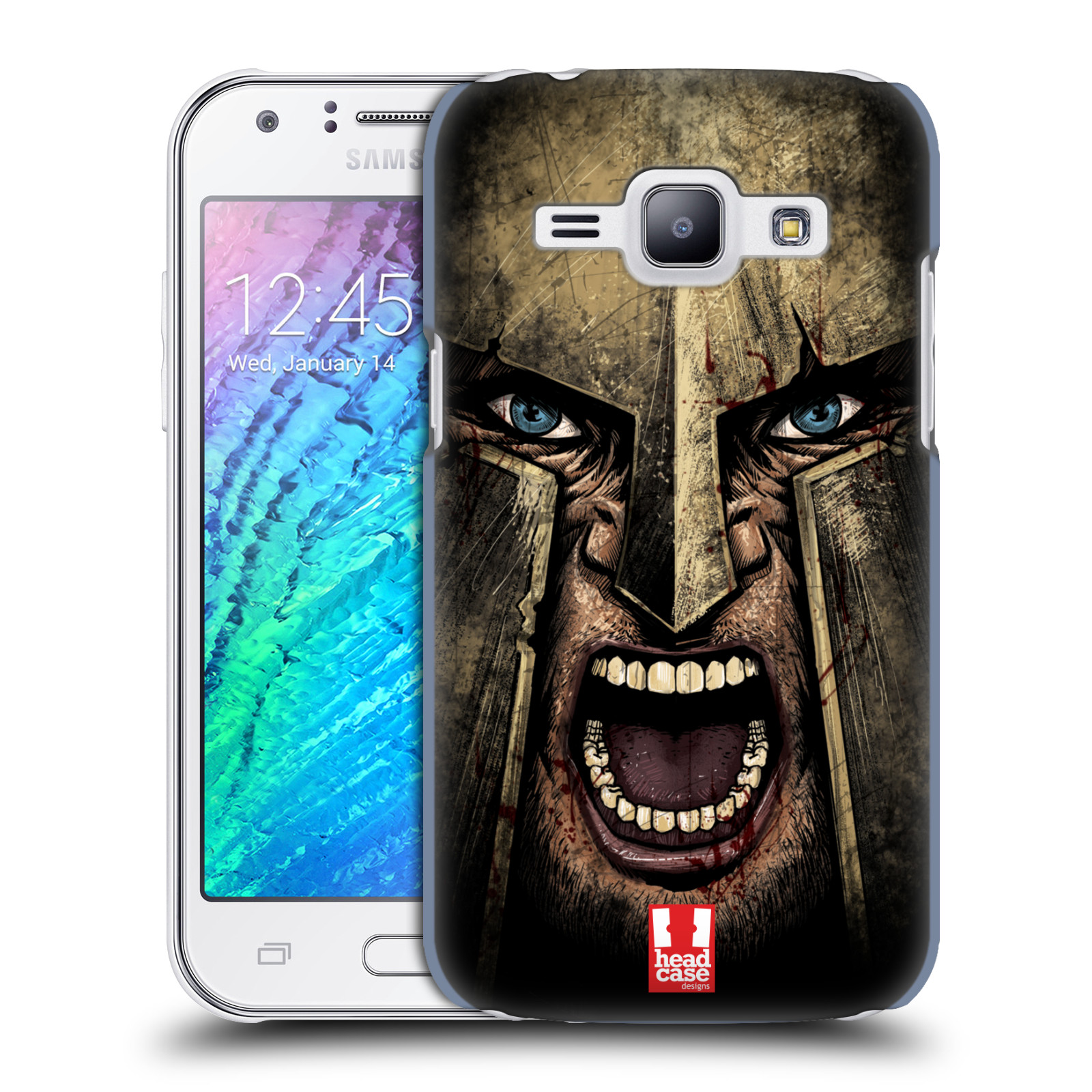 Plastové pouzdro na mobil Samsung Galaxy J1 - Head Case - Řvoucí válečník