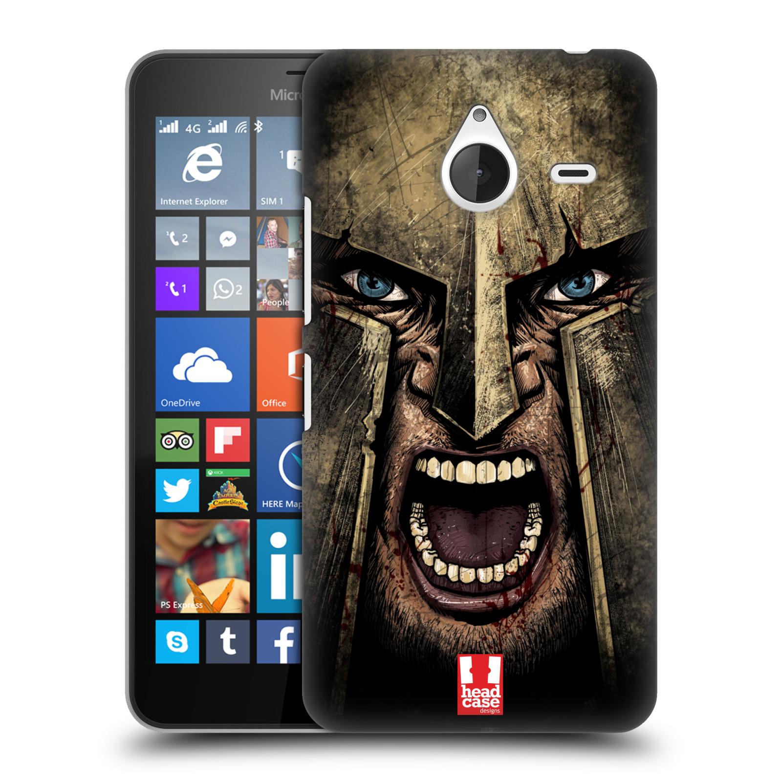 Plastové pouzdro na mobil Microsoft Lumia 640 XL - Head Case - Řvoucí válečník (Plastový kryt či obal na mobilní telefon s motivem bojovníka pro Microsoft Lumia 640 XL)