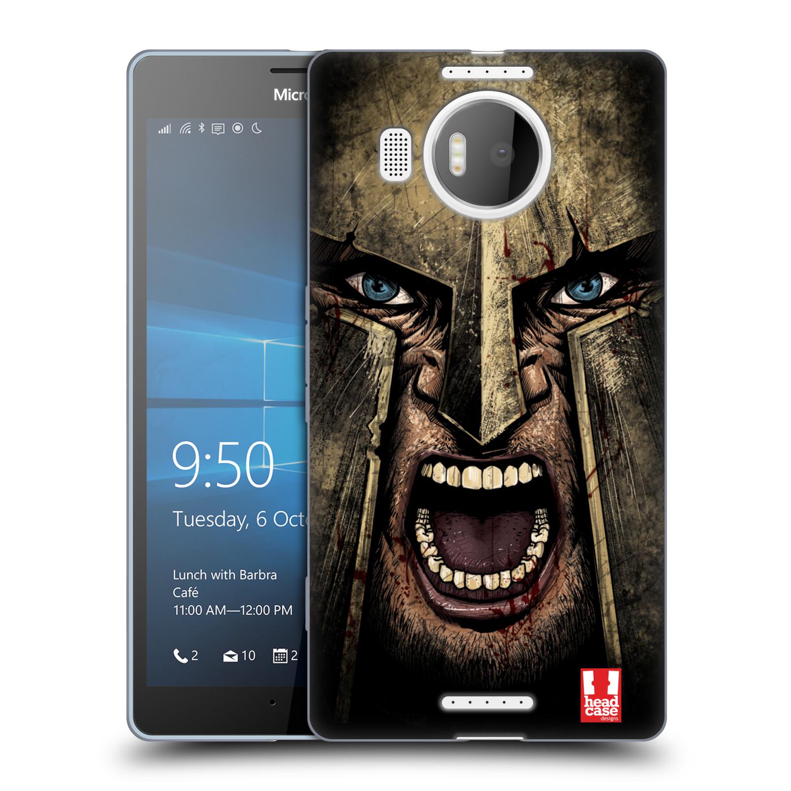 Silikonové pouzdro na mobil Microsoft Lumia 950 XL - Head Case - Řvoucí válečník