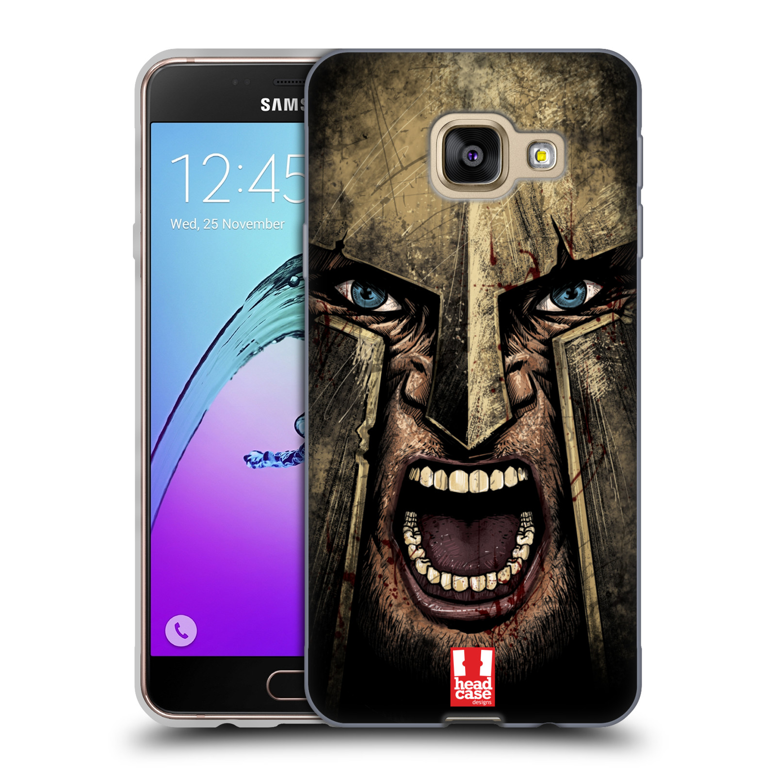 Silikonové pouzdro na mobil Samsung Galaxy A3 (2016) - Head Case - Řvoucí válečník