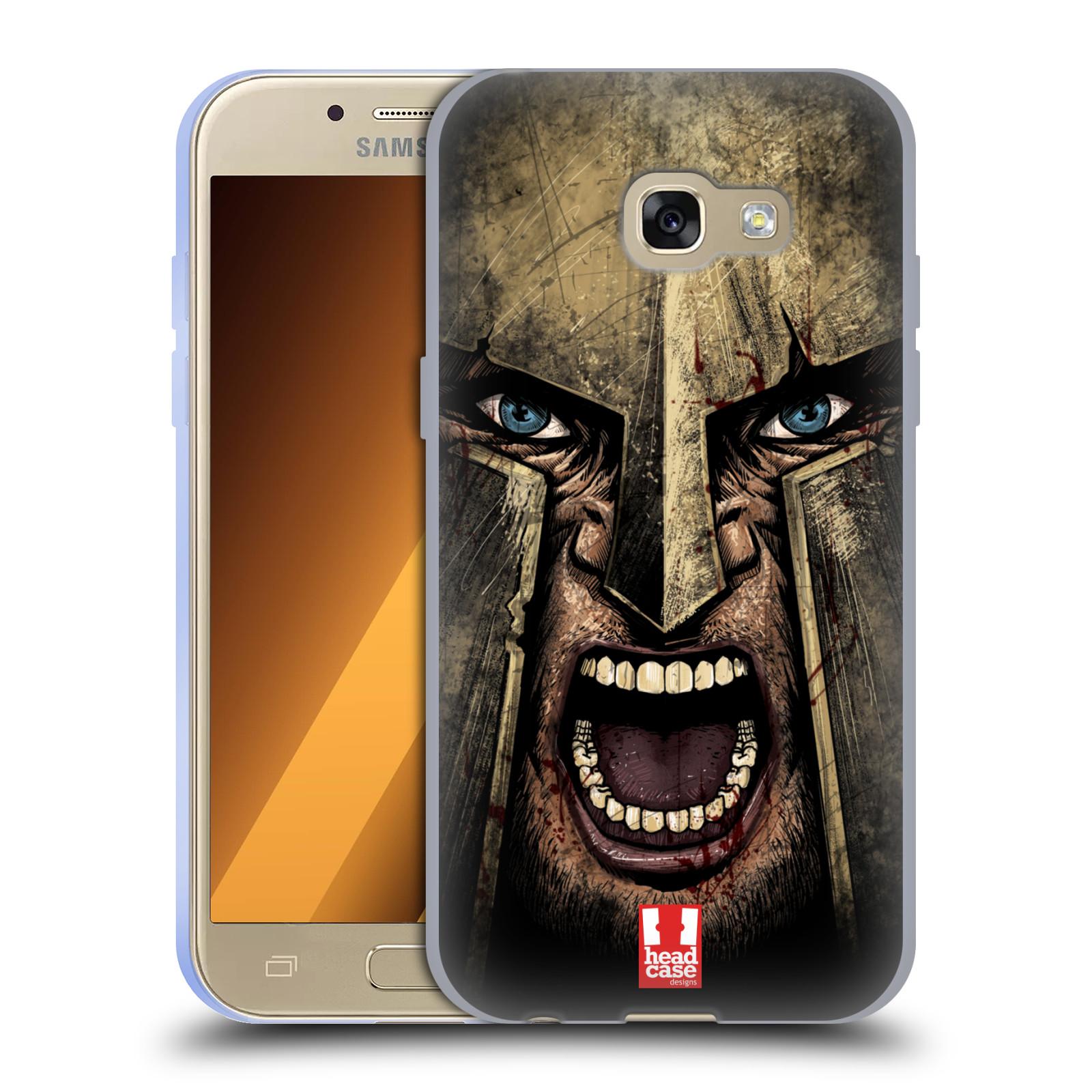 Silikonové pouzdro na mobil Samsung Galaxy A3 (2017) - Head Case - Řvoucí válečník