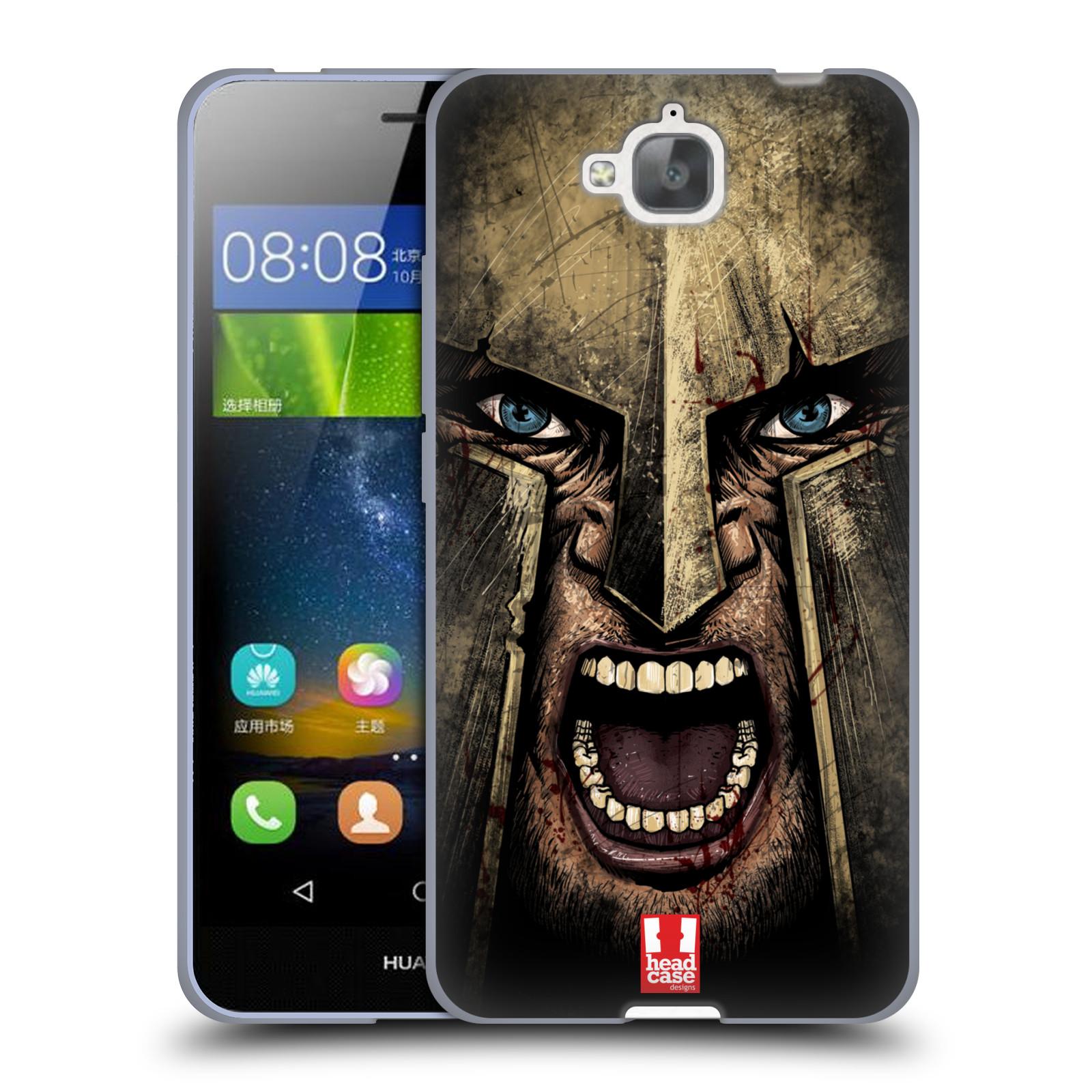 Silikonové pouzdro na mobil Huawei Y6 Pro Dual Sim - Head Case - Řvoucí válečník