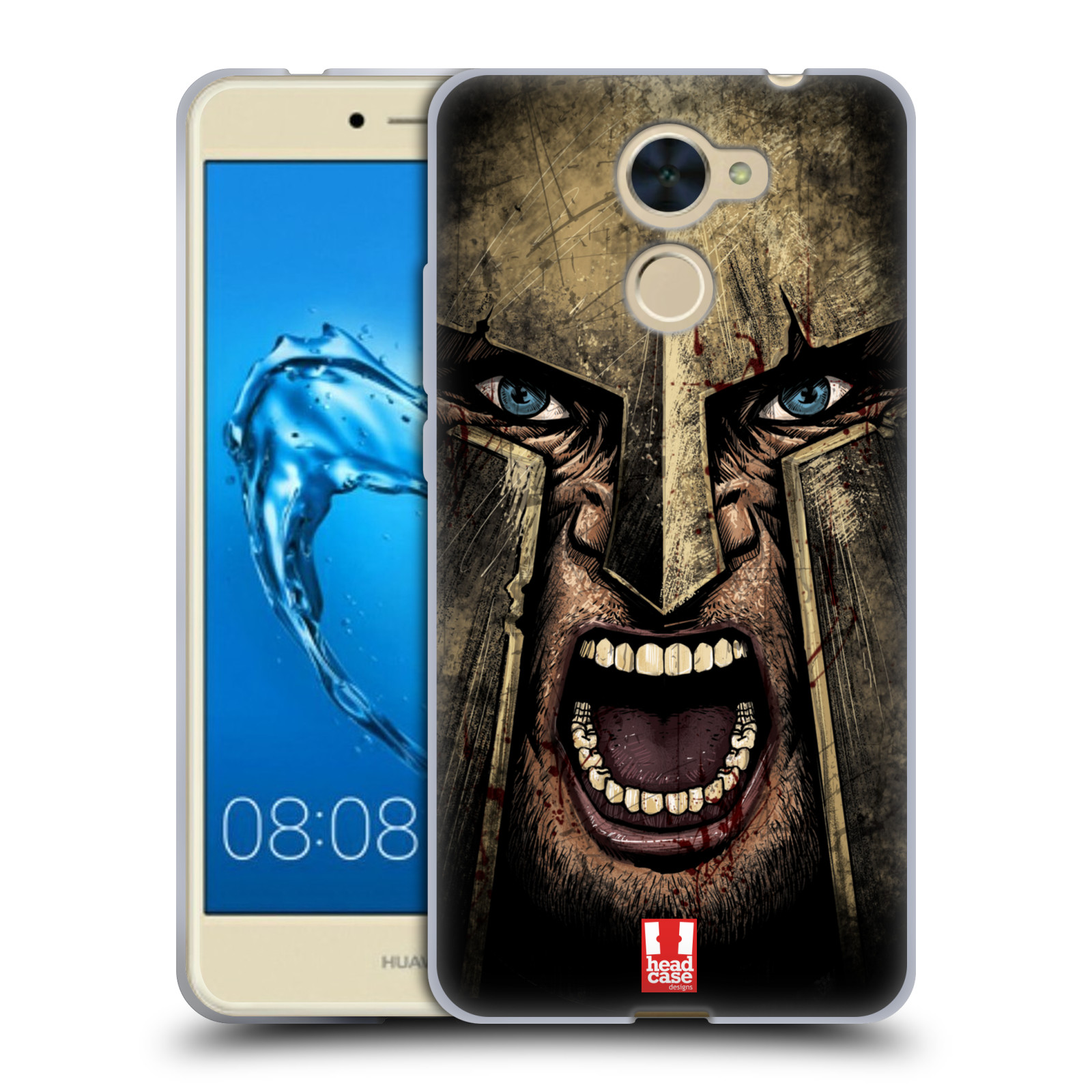 Silikonové pouzdro na mobil Huawei Y7 - Head Case - Řvoucí válečník