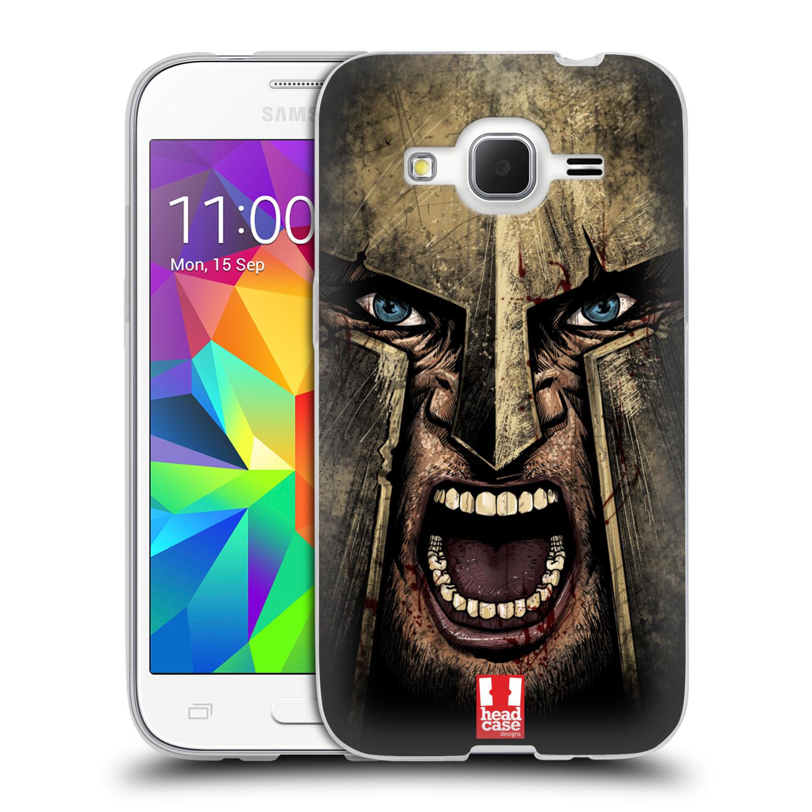 Silikonové pouzdro na mobil Samsung Galaxy Core Prime LTE - Head Case - Řvoucí válečník
