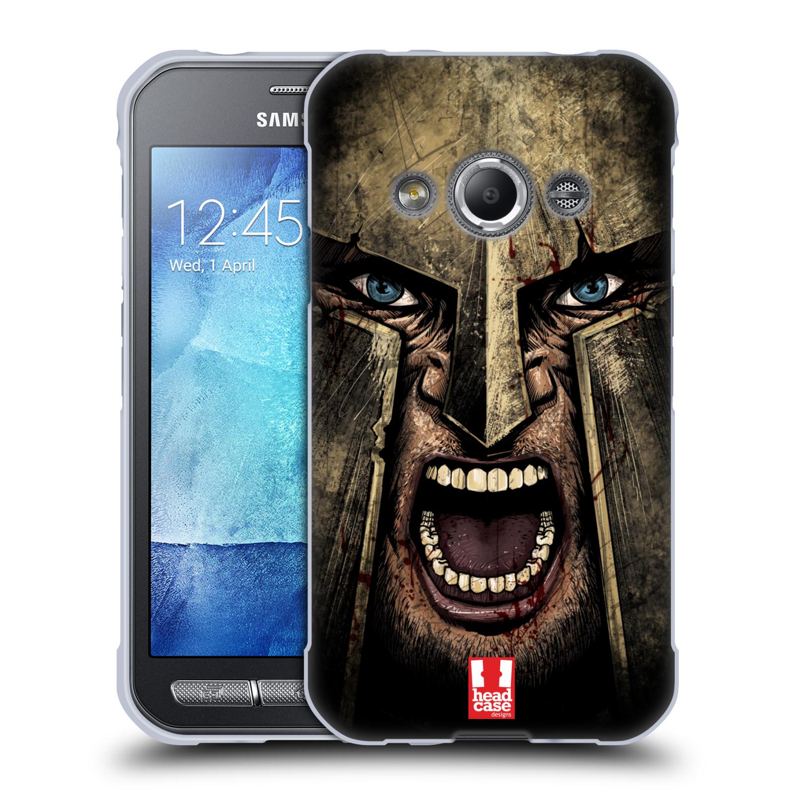 Silikonové pouzdro na mobil Samsung Galaxy Xcover 3 - Head Case - Řvoucí válečník