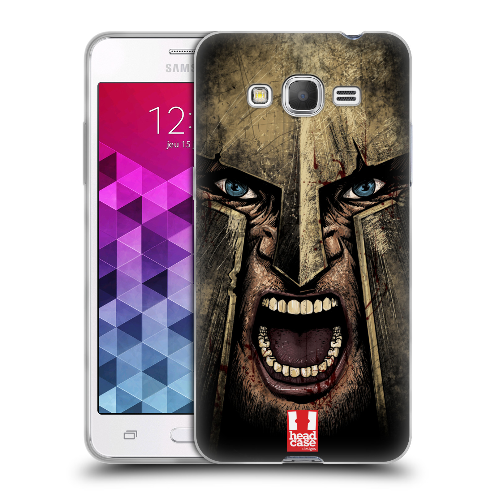 Silikonové pouzdro na mobil Samsung Galaxy Grand Prime - Head Case - Řvoucí válečník