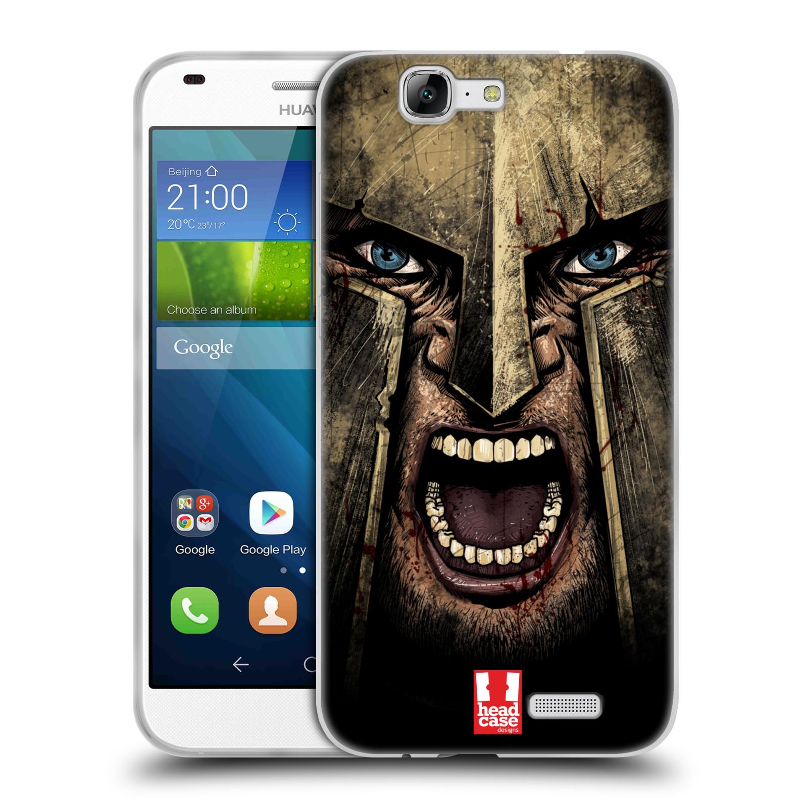 Silikonové pouzdro na mobil Huawei Ascend G7 - Head Case - Řvoucí válečník