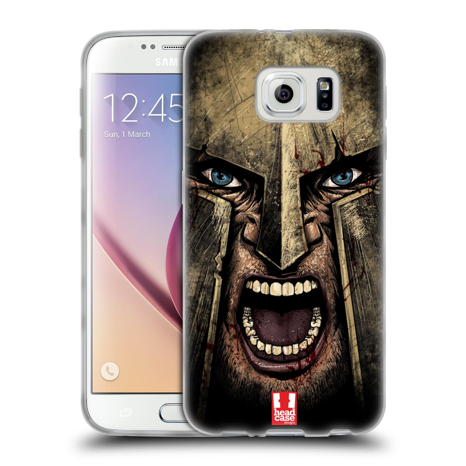 Silikonové pouzdro na mobil Samsung Galaxy S6 - Head Case - Řvoucí válečník