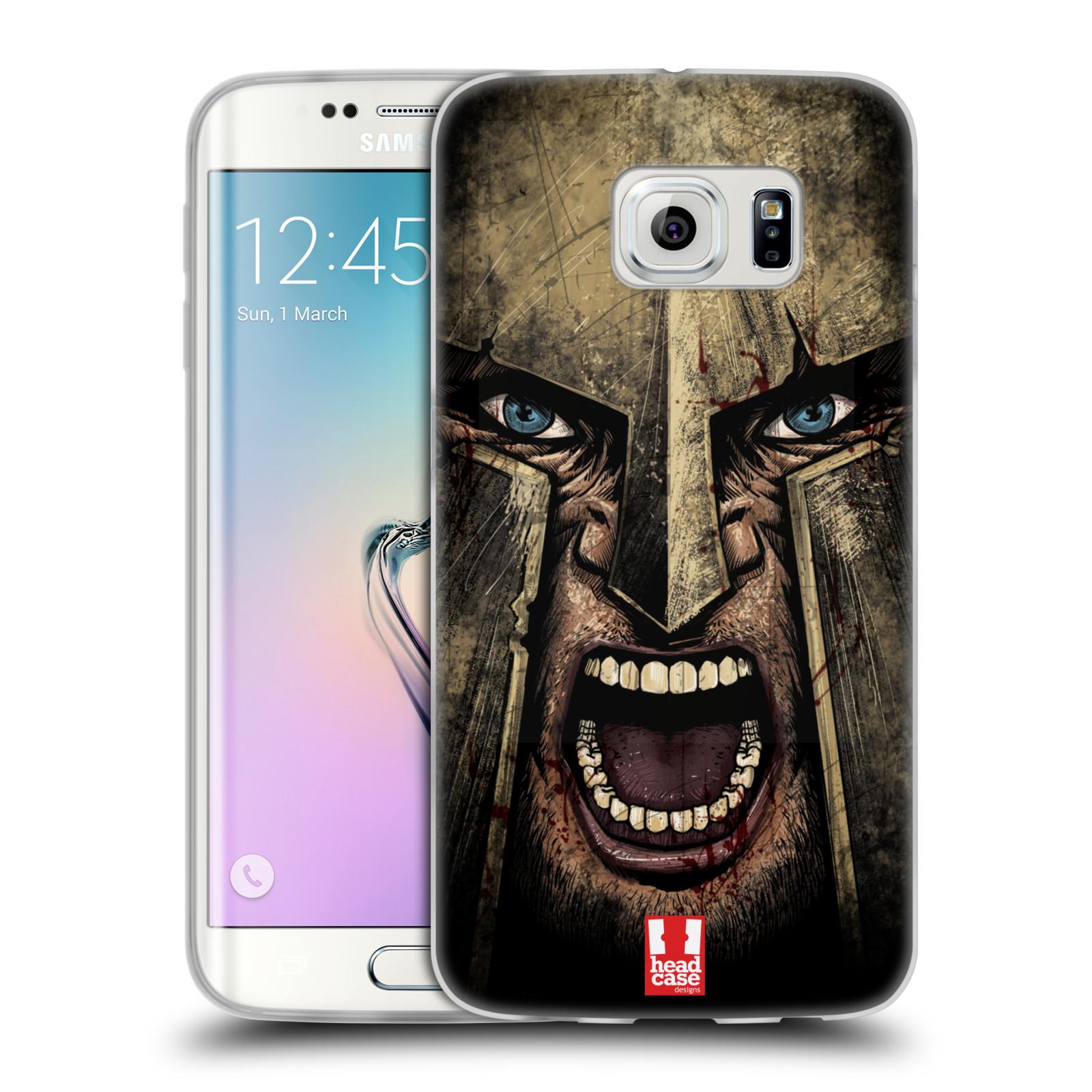 Silikonové pouzdro na mobil Samsung Galaxy S6 Edge - Head Case - Řvoucí válečník