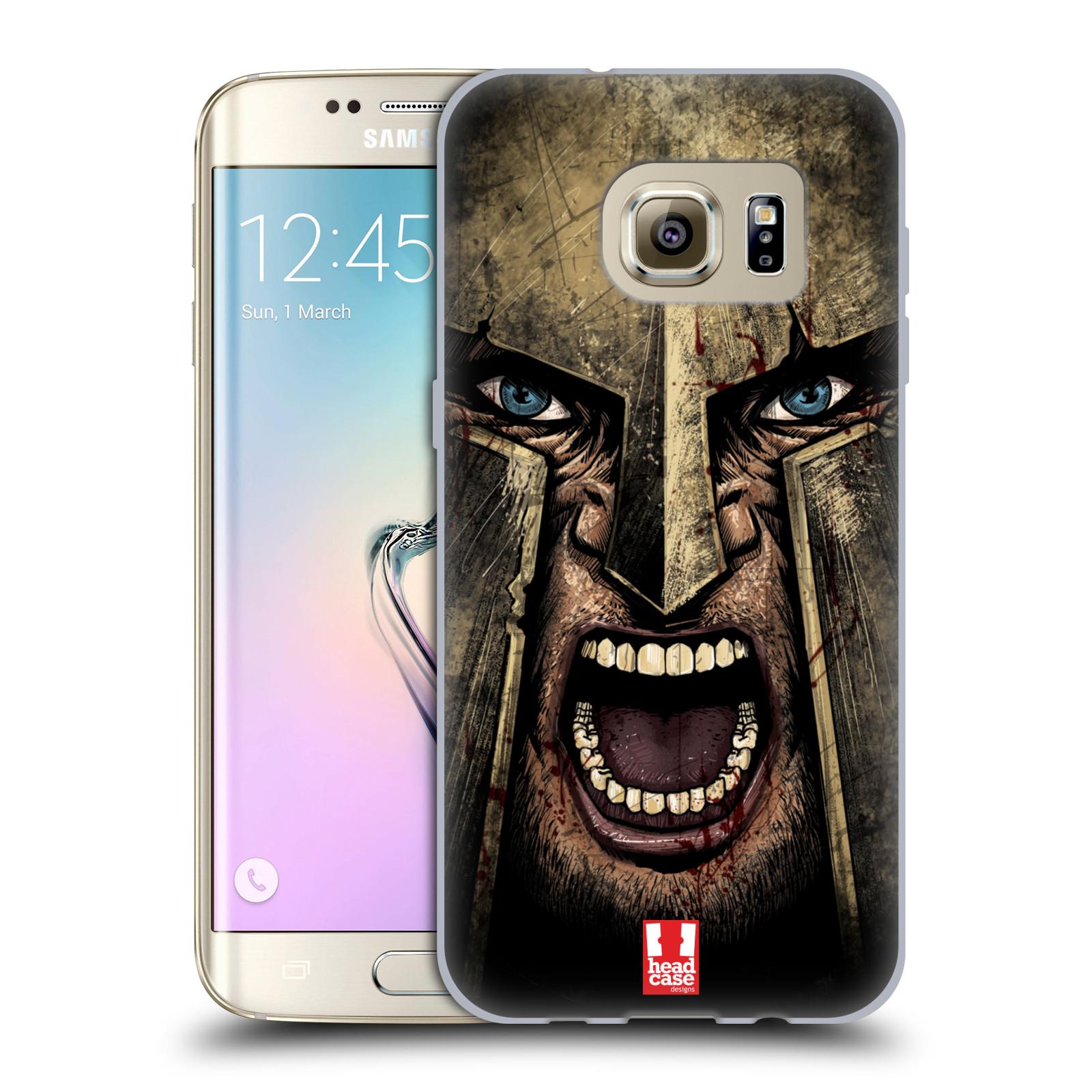 Silikonové pouzdro na mobil Samsung Galaxy S7 Edge - Head Case - Řvoucí válečník