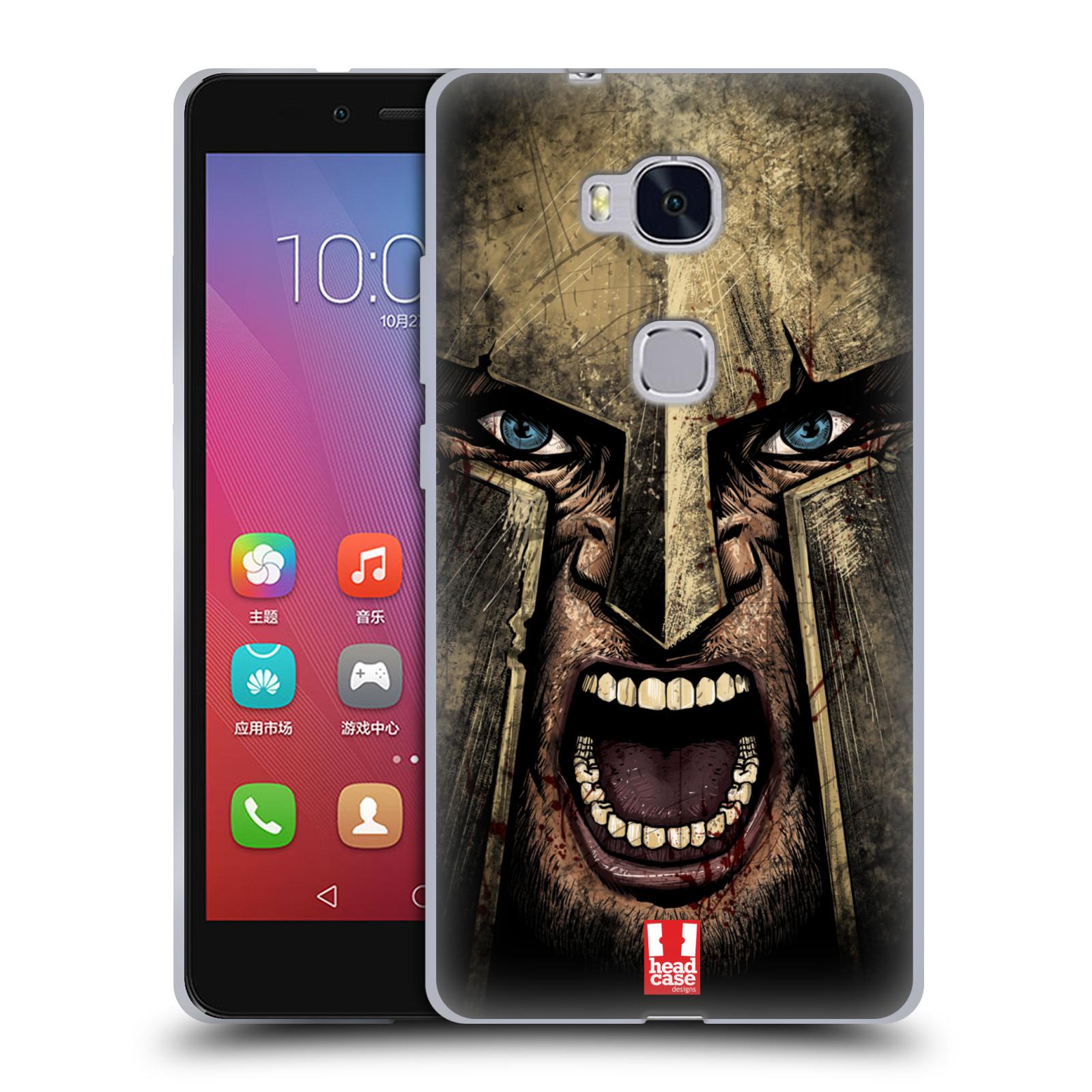 Silikonové pouzdro na mobil Honor 5X - Head Case - Řvoucí válečník